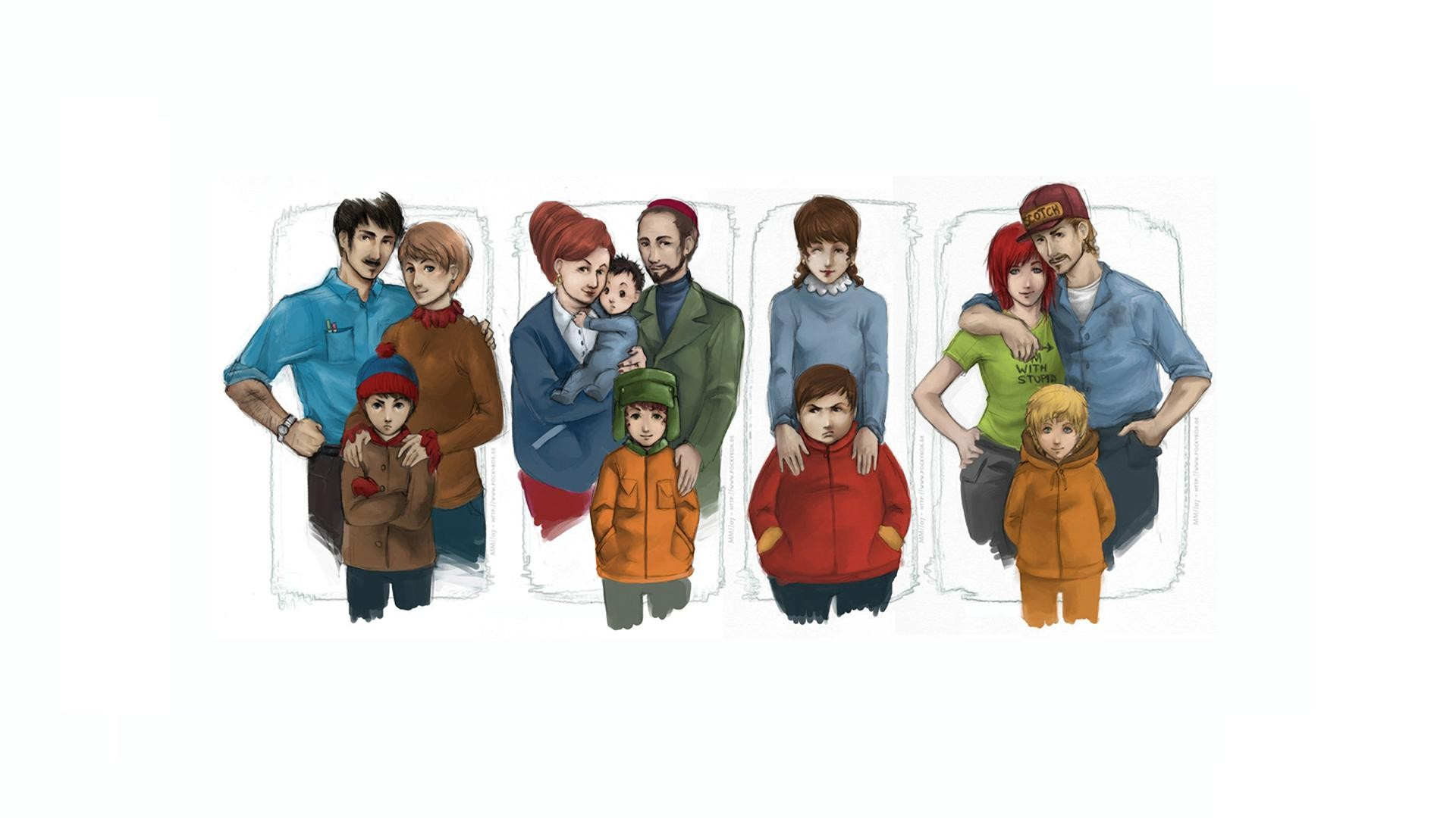 General 1920x1080 South Park Kyle Broflovski Stan Marsh Kenny McCormick Eric Cartman