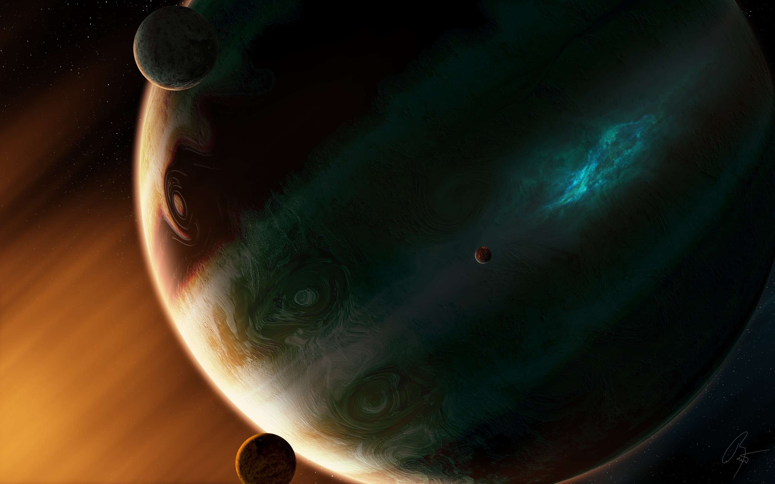 General 2560x1600 Joey Jazz space space art planet digital art