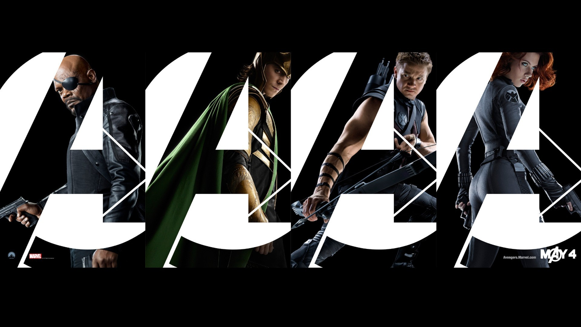 General 1920x1080 movies The Avengers Hawkeye Nick Fury Black Widow Loki Clint Barton Tom Hiddleston Jeremy Renner Samuel L. Jackson Scarlett Johansson Marvel Cinematic Universe