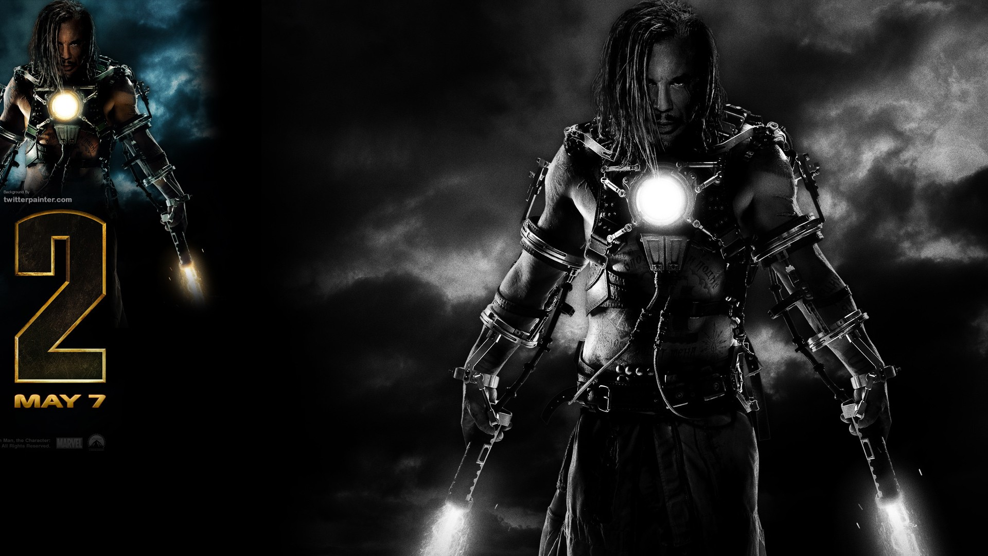General 1920x1080 movies Iron Man 2 Iron Man Tony Stark Mickey Rourke Marvel Cinematic Universe movie poster
