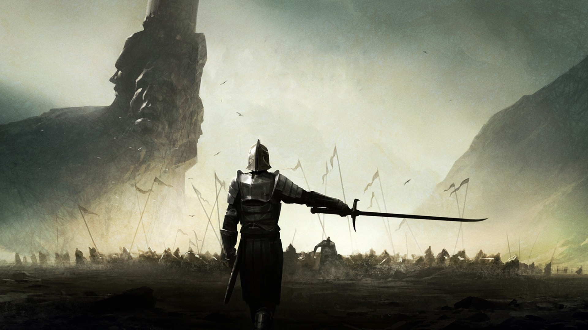 General 1920x1080 knight sword warrior video games fantasy art