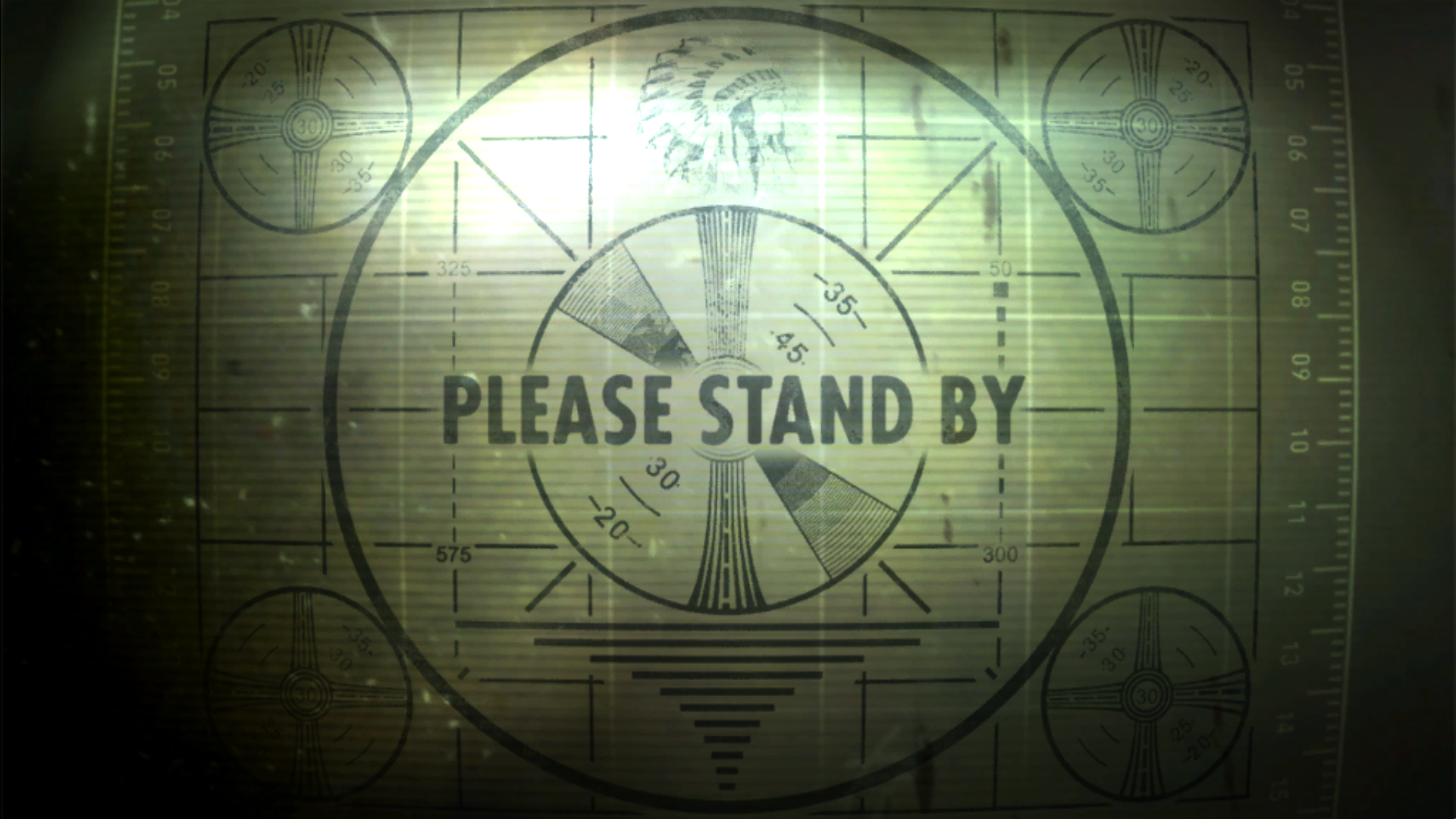 General 1920x1080 Fallout 3 test patterns vintage video games Fallout video game art numbers