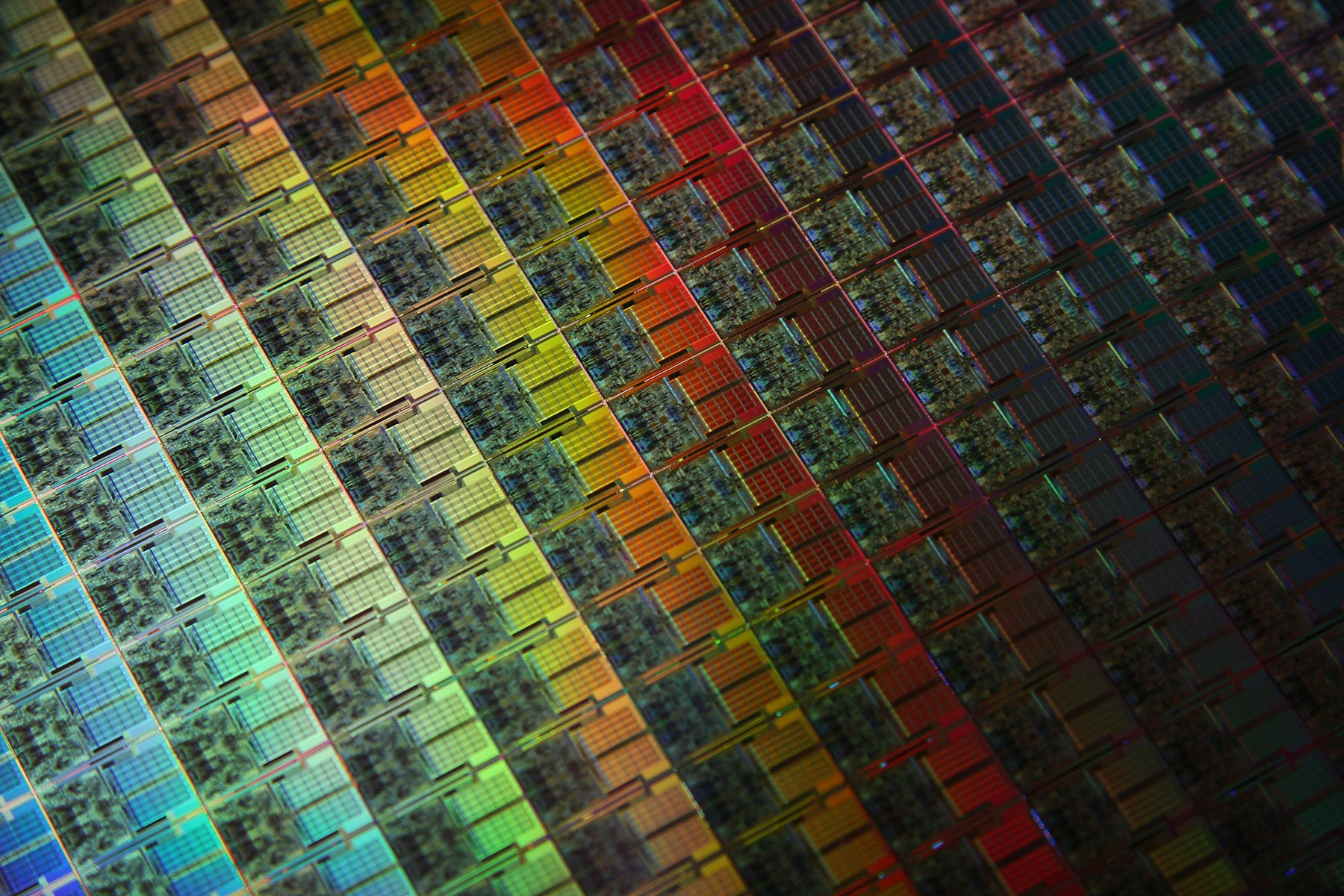 General 1800x1200 wafer CPU colorful technology