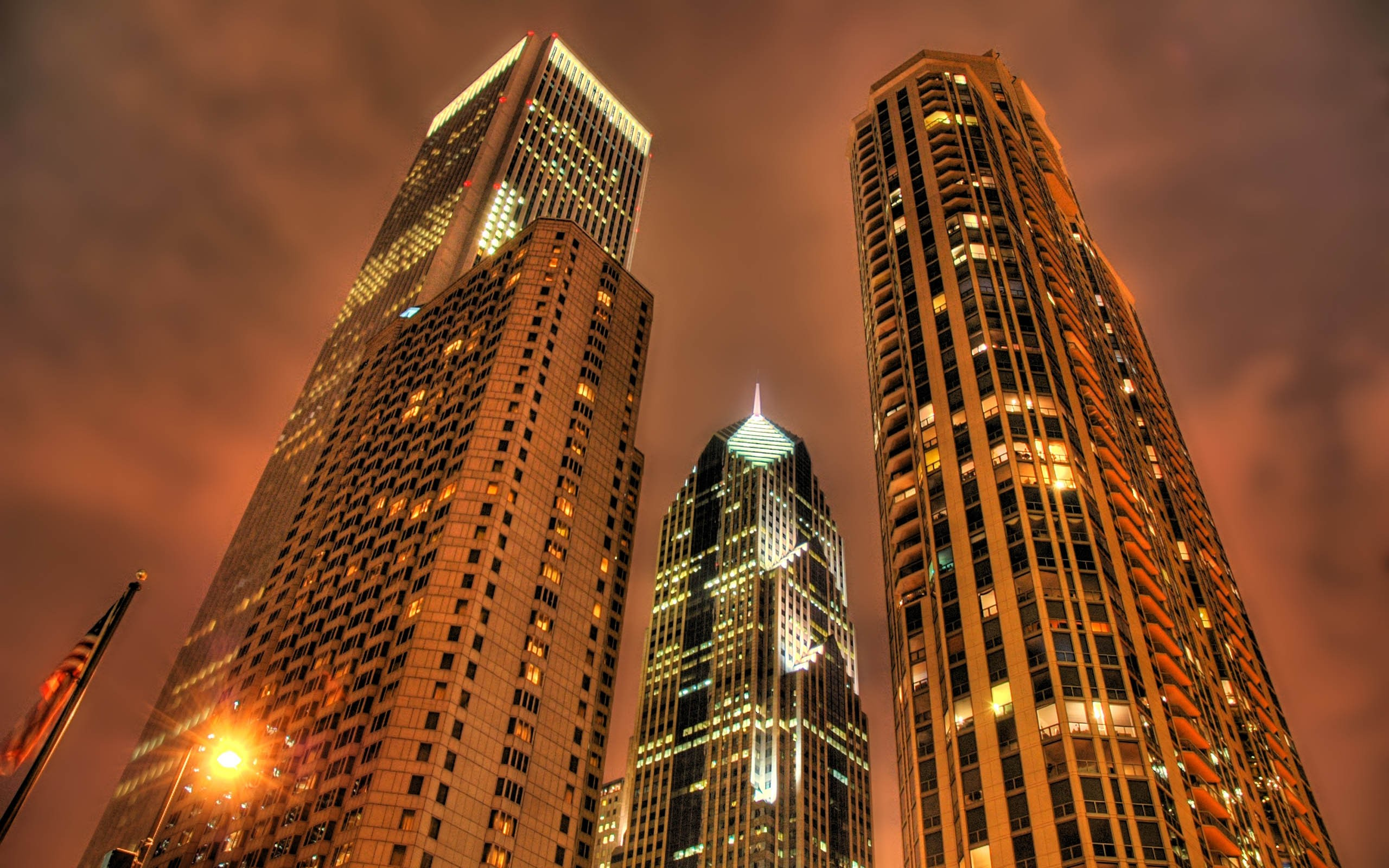 General 2560x1600 HDR cityscape Philadelphia night city lights USA