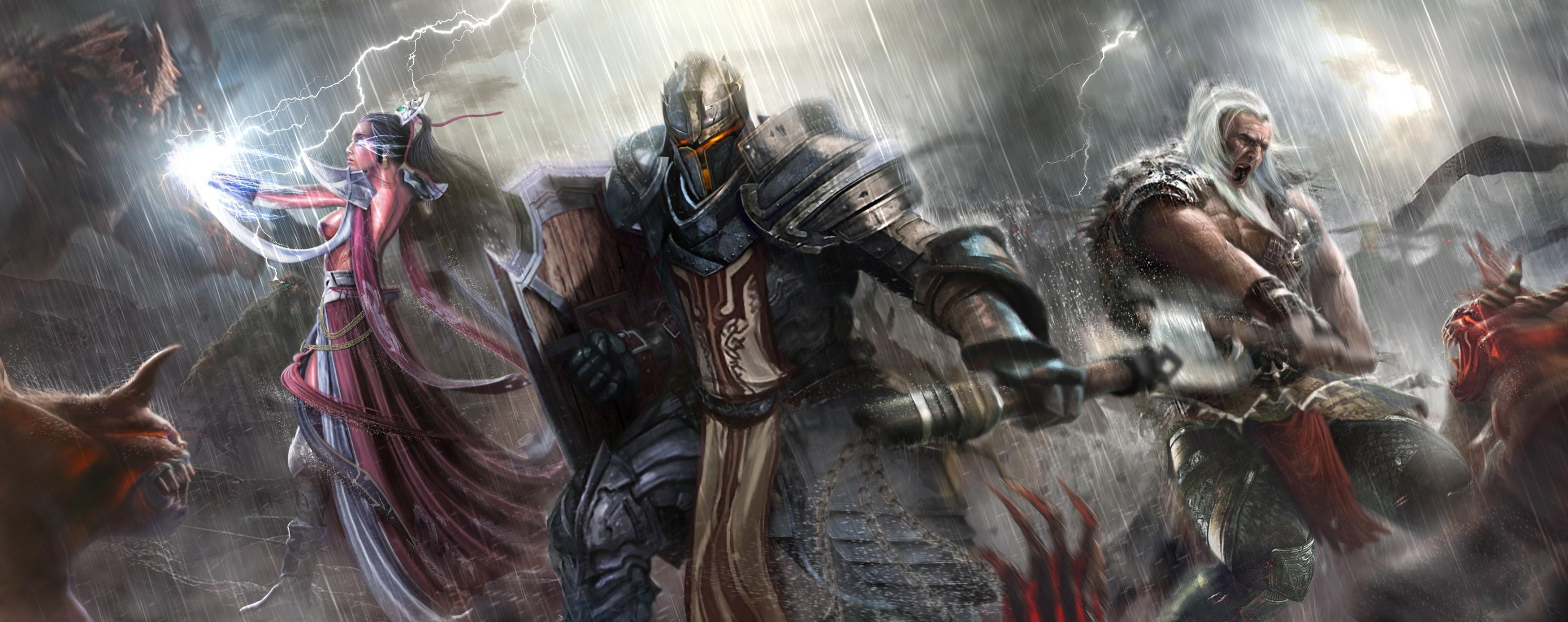 General 3498x1388 fantasy art Diablo III Diablo video games PC gaming video game art fantasy girl fantasy men