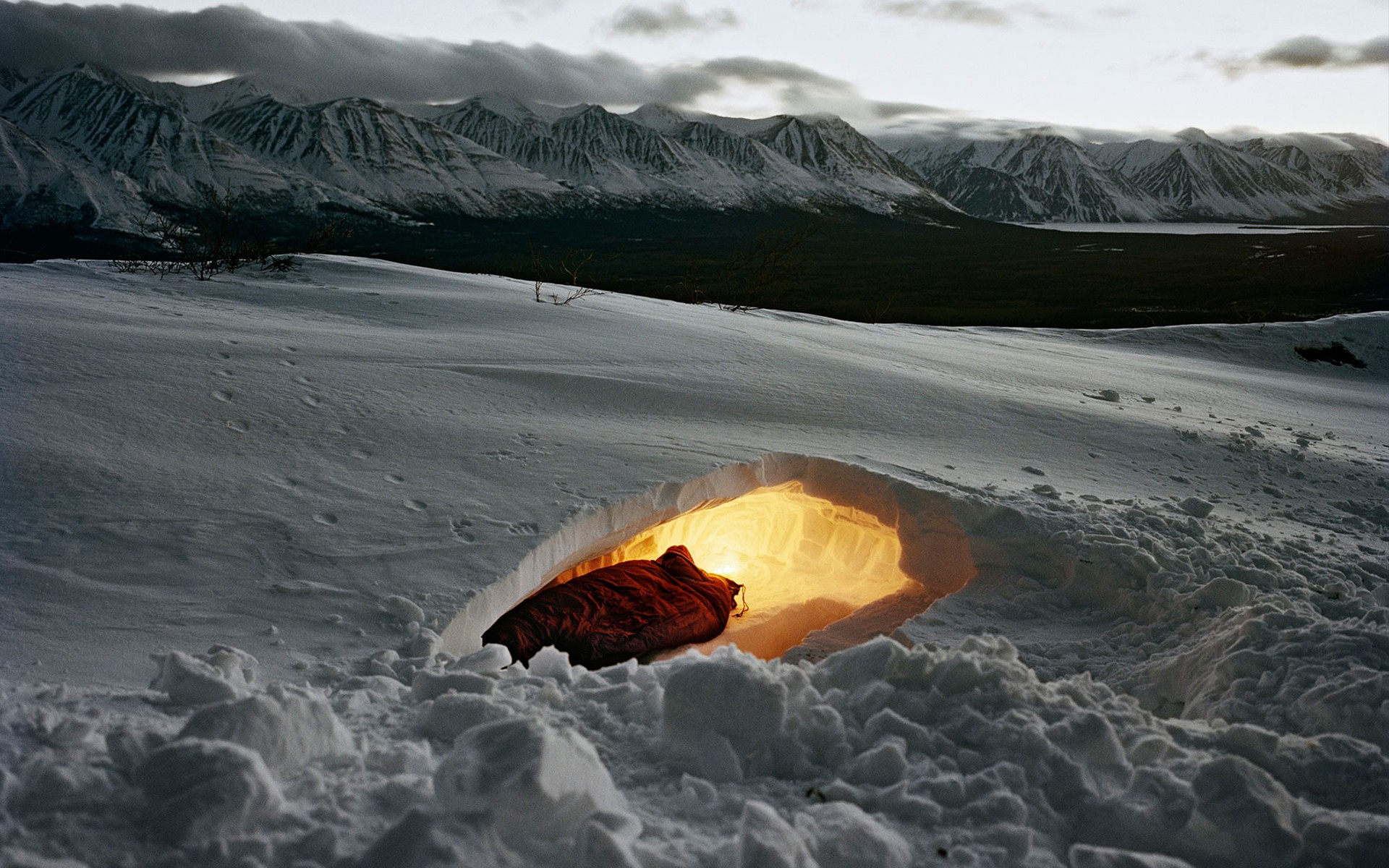 General 1920x1200 camping Canada Yukon winter survival nature