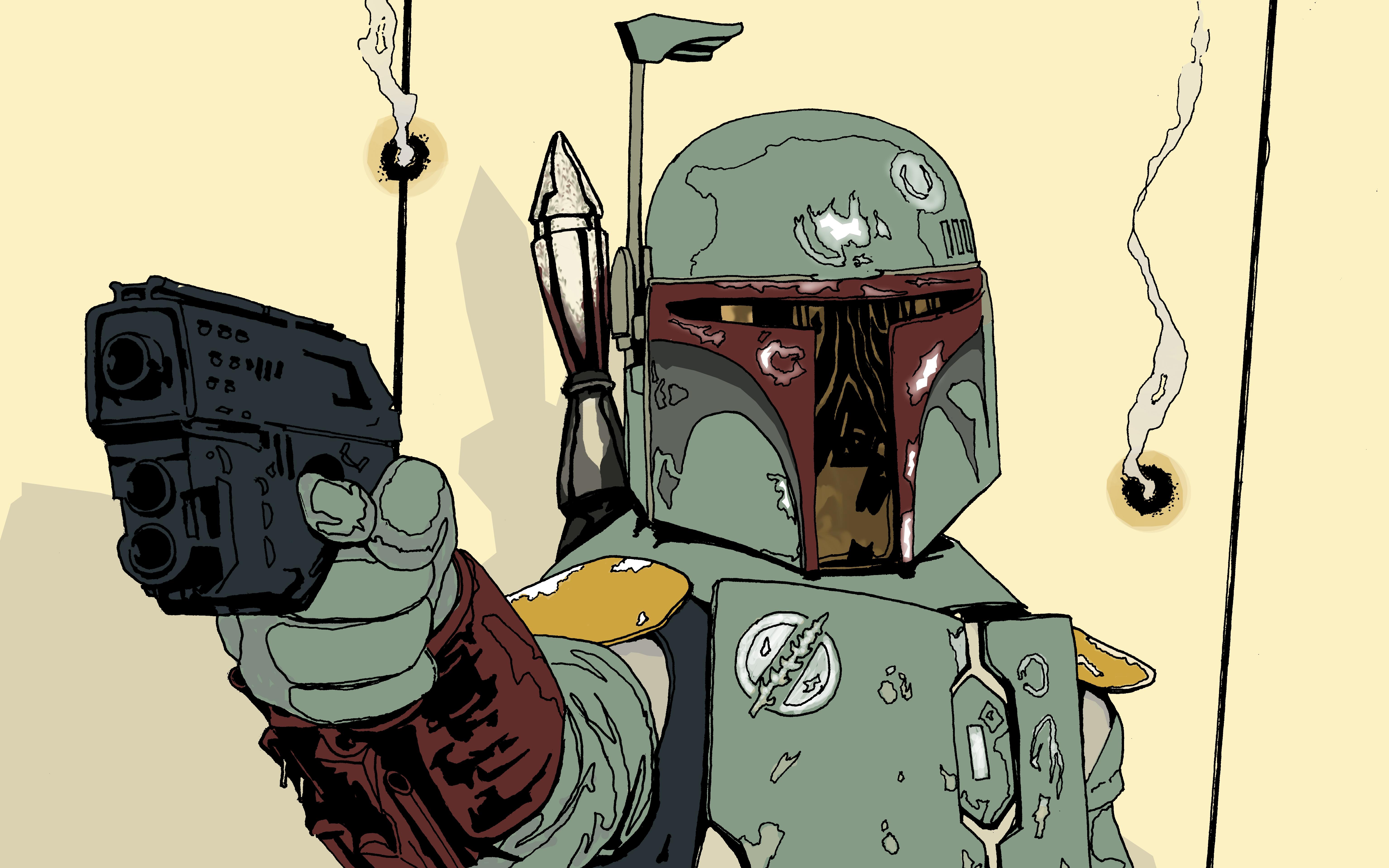 General 6139x3837 Star Wars Boba Fett Star Wars Villains helmet bounty hunter artwork science fiction