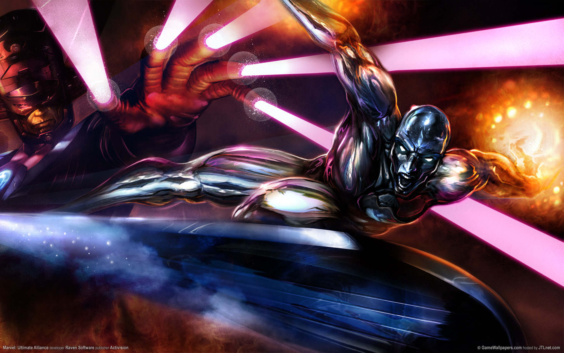 General 1920x1200 Silver Surfer Galactus Marvel Comics video games Ultimate Alliance Marvel: Ultimate Alliance (Game) video game art Raven Software Activision