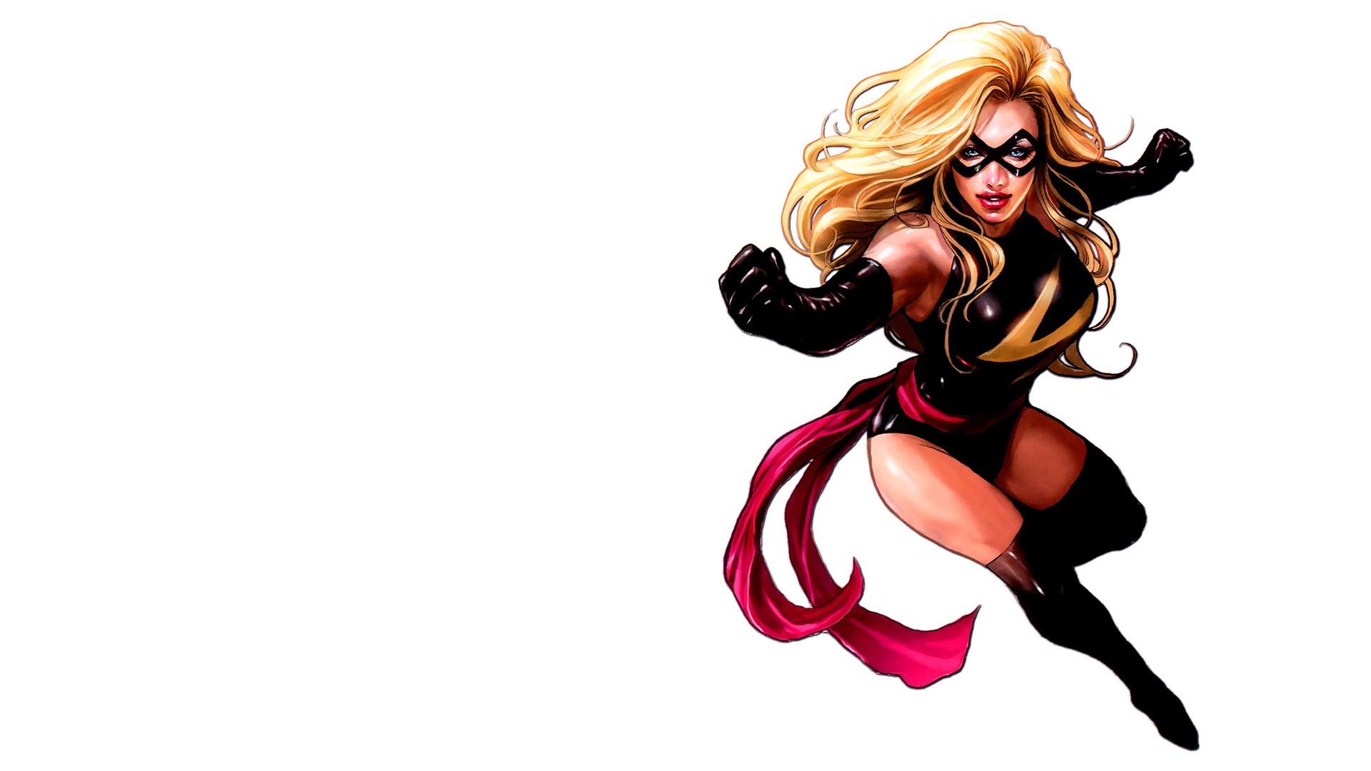 General 1920x1080 Miss Marvel superheroines blonde latex artwork