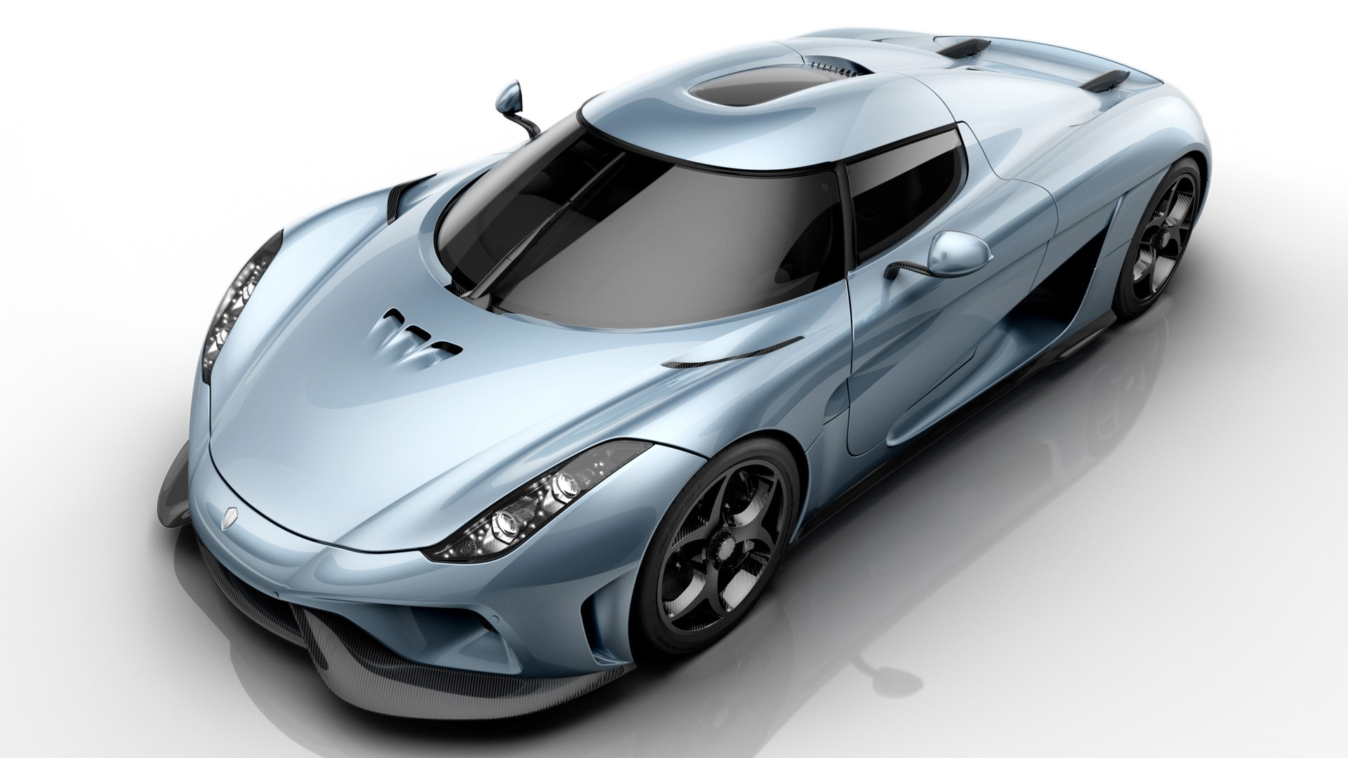 General 1920x1080 Koenigsegg Regera car simple background vehicle reflection