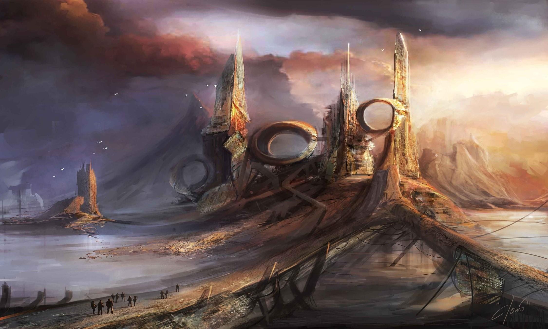 General 2250x1350 fantasy art artwork landscape sky