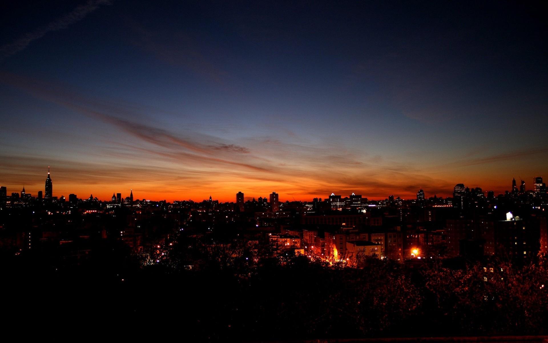 General 1920x1200 sunset cityscape city sky sunlight dark night