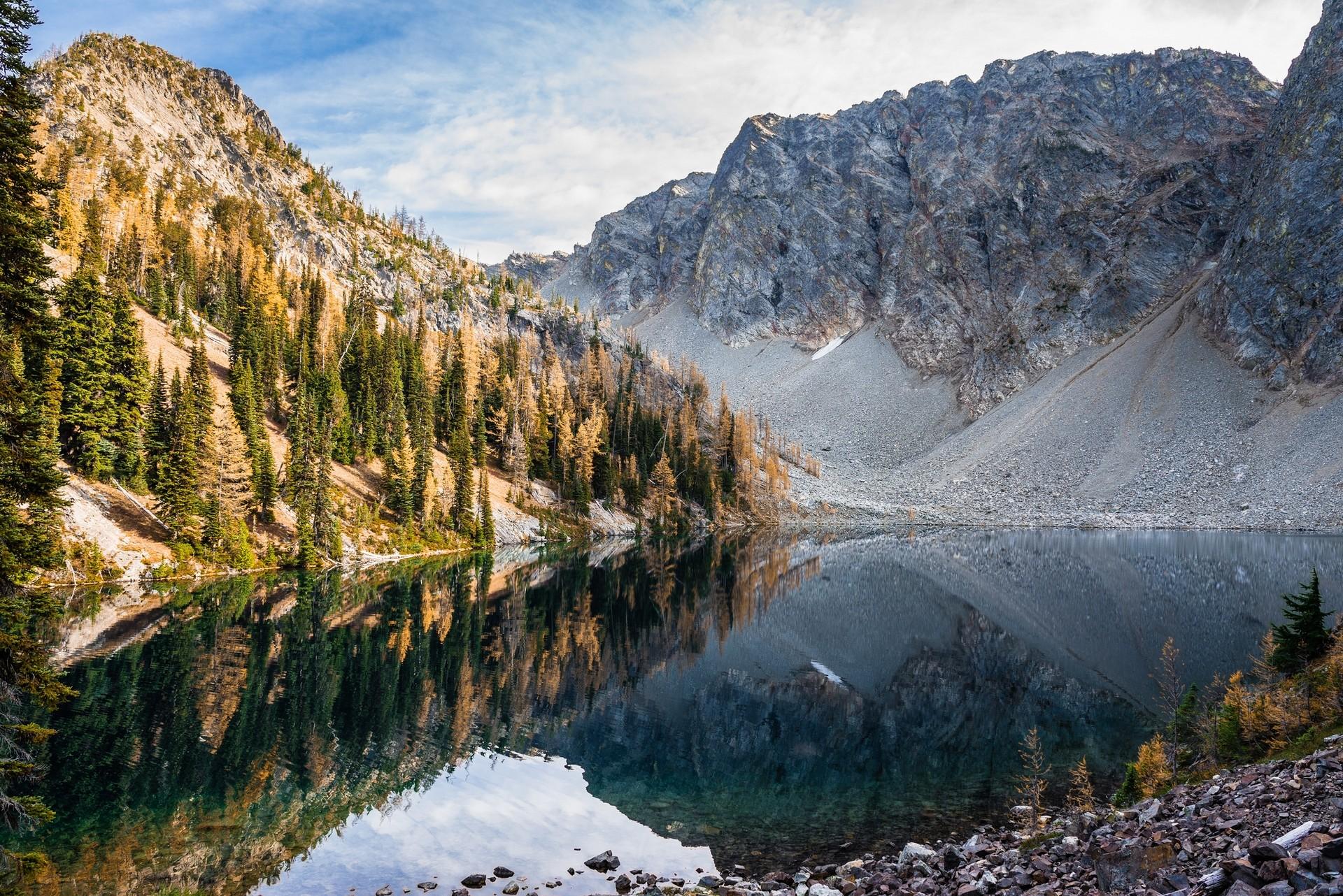 General 1920x1282 landscape nature North Cascades National Park Washington lake