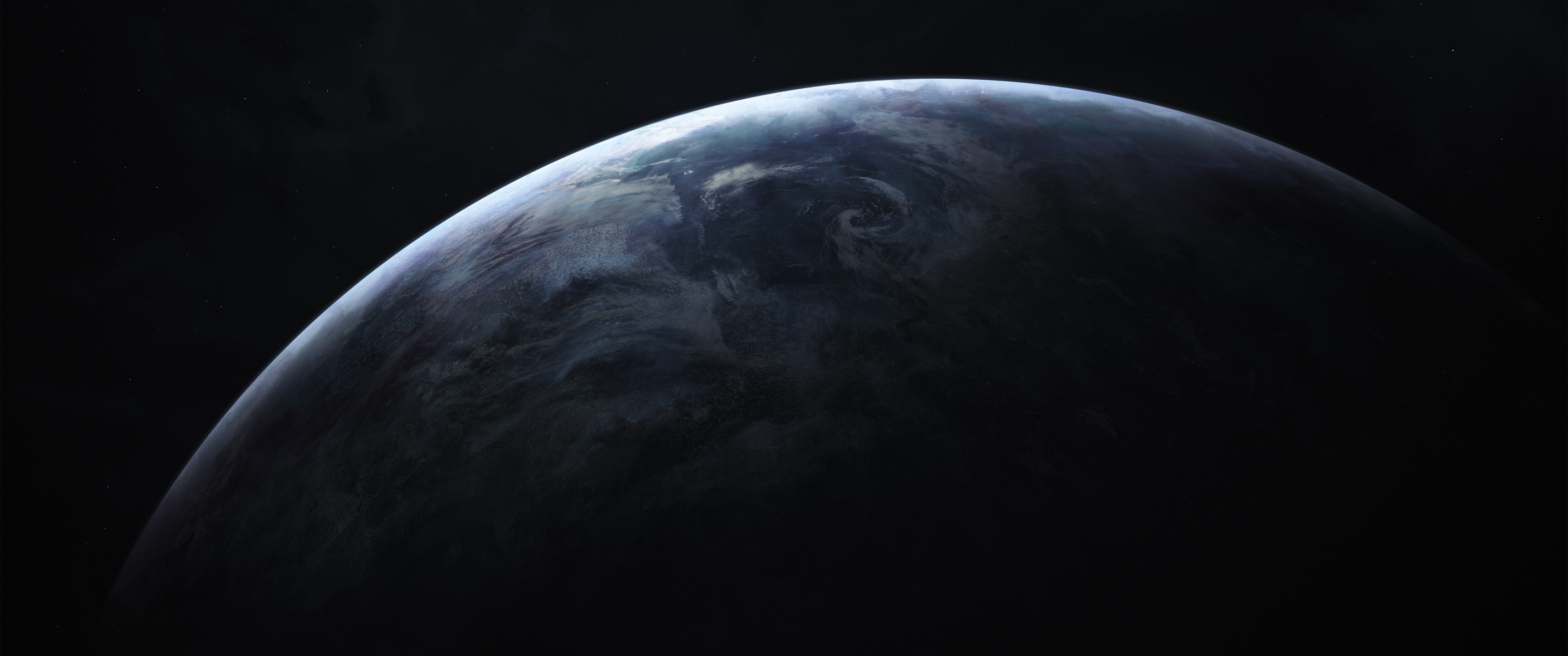 General 3440x1440 ultrawide space space art planet digital art