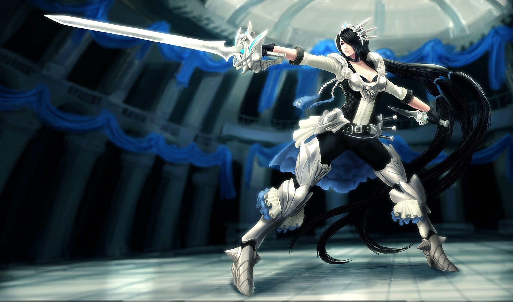 General 1765x1042 League of Legends Fiora (League of Legends) PC gaming anime girls anime sword fantasy girl