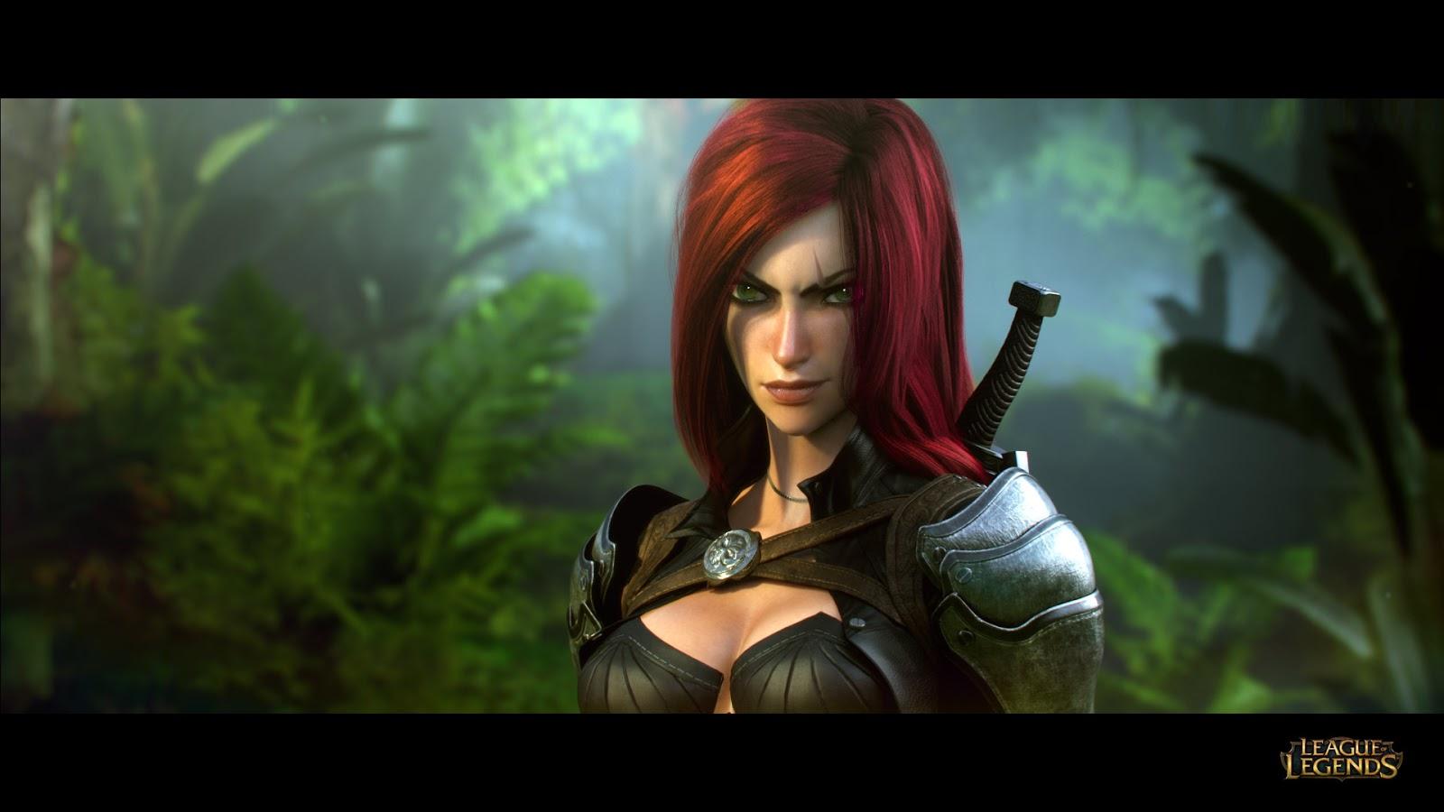 General 1600x900 League of Legends video games redhead boobs long hair women fantasy girl