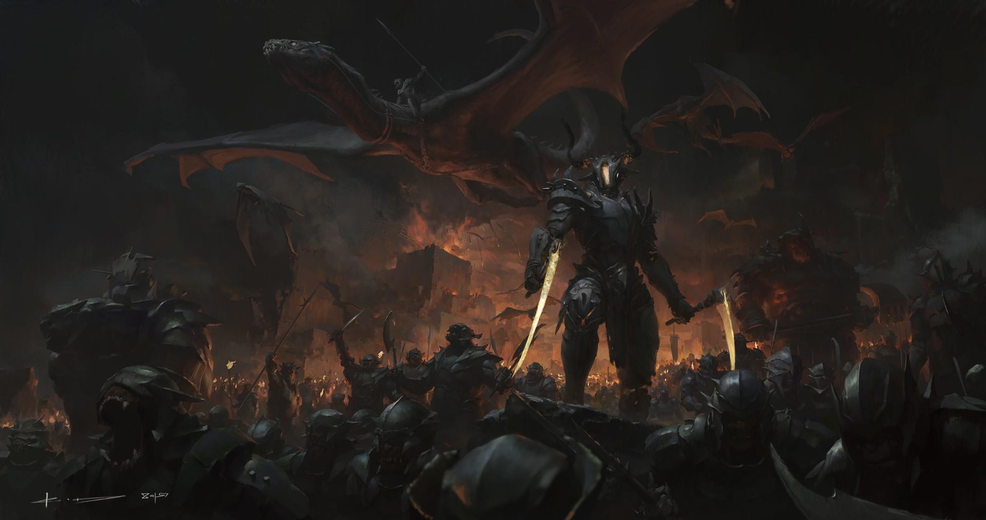 General 1920x1012 fantasy art dark fantasy battle artwork