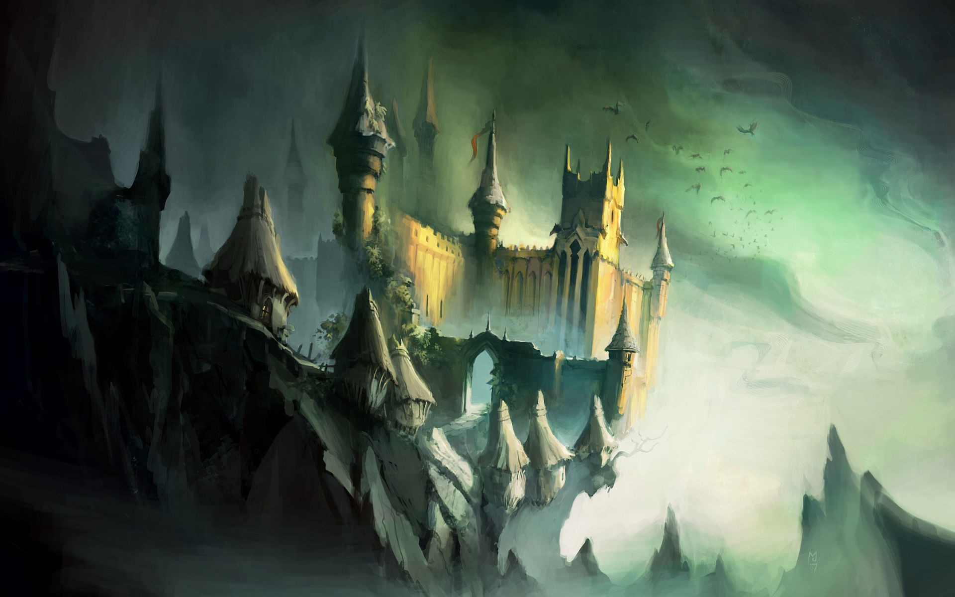 General 1920x1200 castle fantasy art artwork