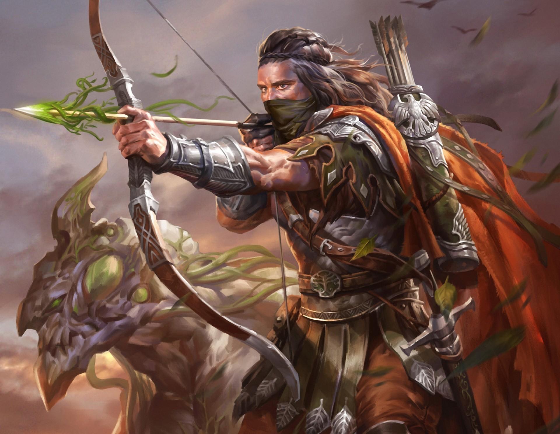 General 1920x1488 Legend of the Cryptids artwork fantasy art warrior armor archer arrows