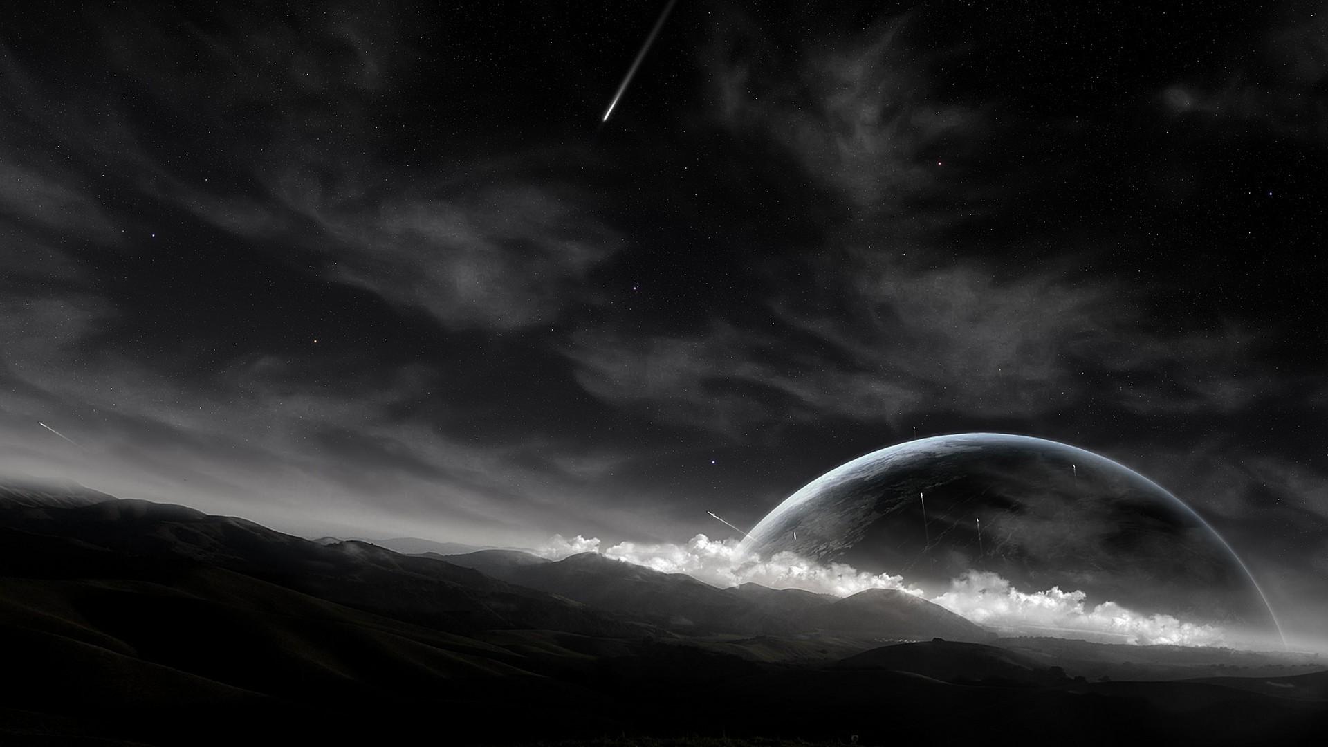 General 1920x1080 sky planet comet space