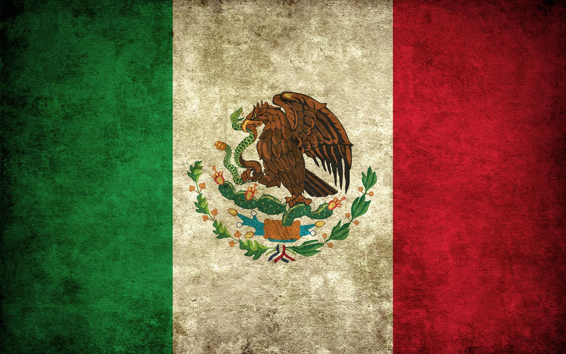 General 1920x1200 flag Mexico green red grunge white cactus eagle snake serpent beige birds artwork