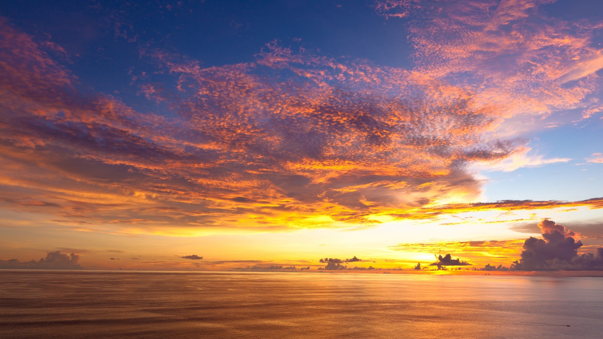 General 1920x1080 sunset landscape skyscape sky orange sky horizon yellow