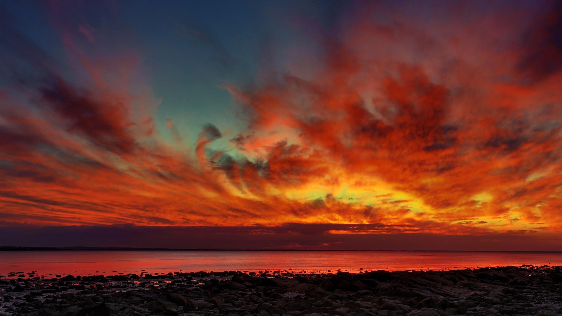 General 1920x1080 landscape clouds horizon