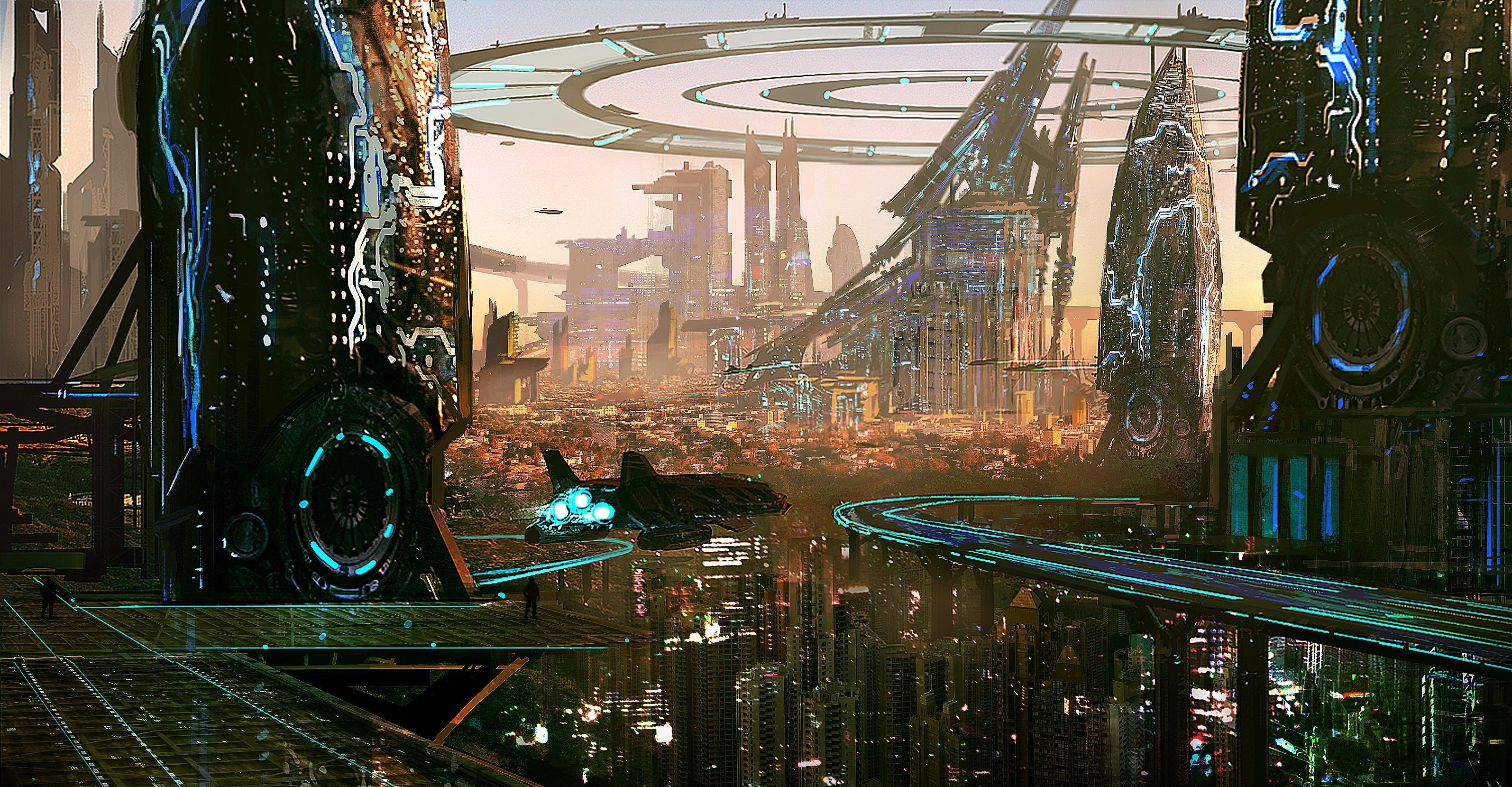 General 3189x1659 artwork city futuristic digital art building skyscraper futuristic city