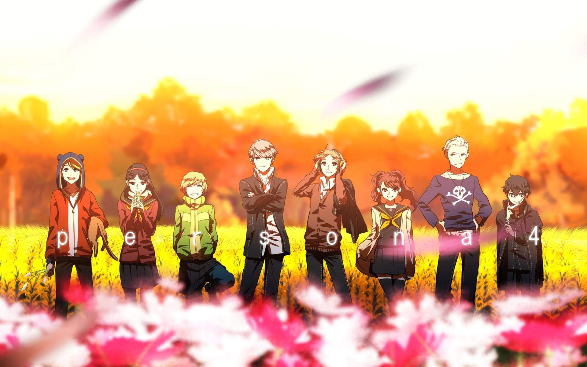 Anime 1920x1200 Persona 4 anime girls anime colorful anime boys standing Hanamura Yosuke Satonaka Chie Narukami Yu Amagi Yukiko Tatsumi Kanji Kujikawa Rise Shirogane Naoto Teddie