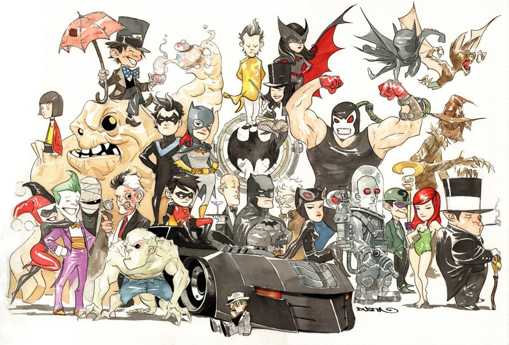 General 1680x1138 Batman Robin (superhero) Catwoman Harley Quinn Joker Batgirl Zatanna Bane Batwoman Scarecrow (character) Alfred Pennyworth Two-Face