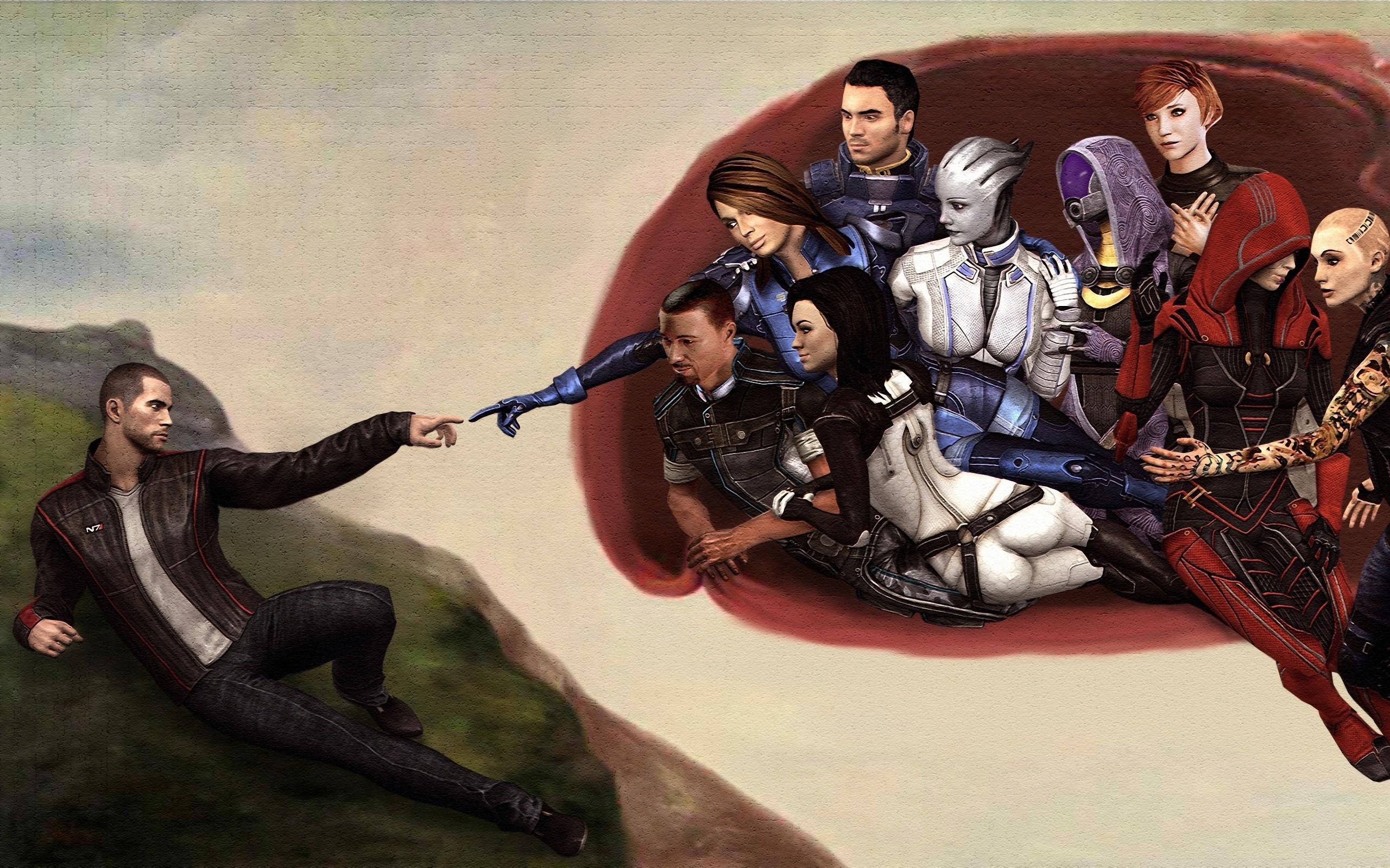 General 2560x1600 Mass Effect Mass Effect 2 Mass Effect 3 Commander Shepard Ashley Williams Miranda Lawson Kasumi Goto Jack The Creation of Adam video games Tali'Zorah video game art video game girls video game man