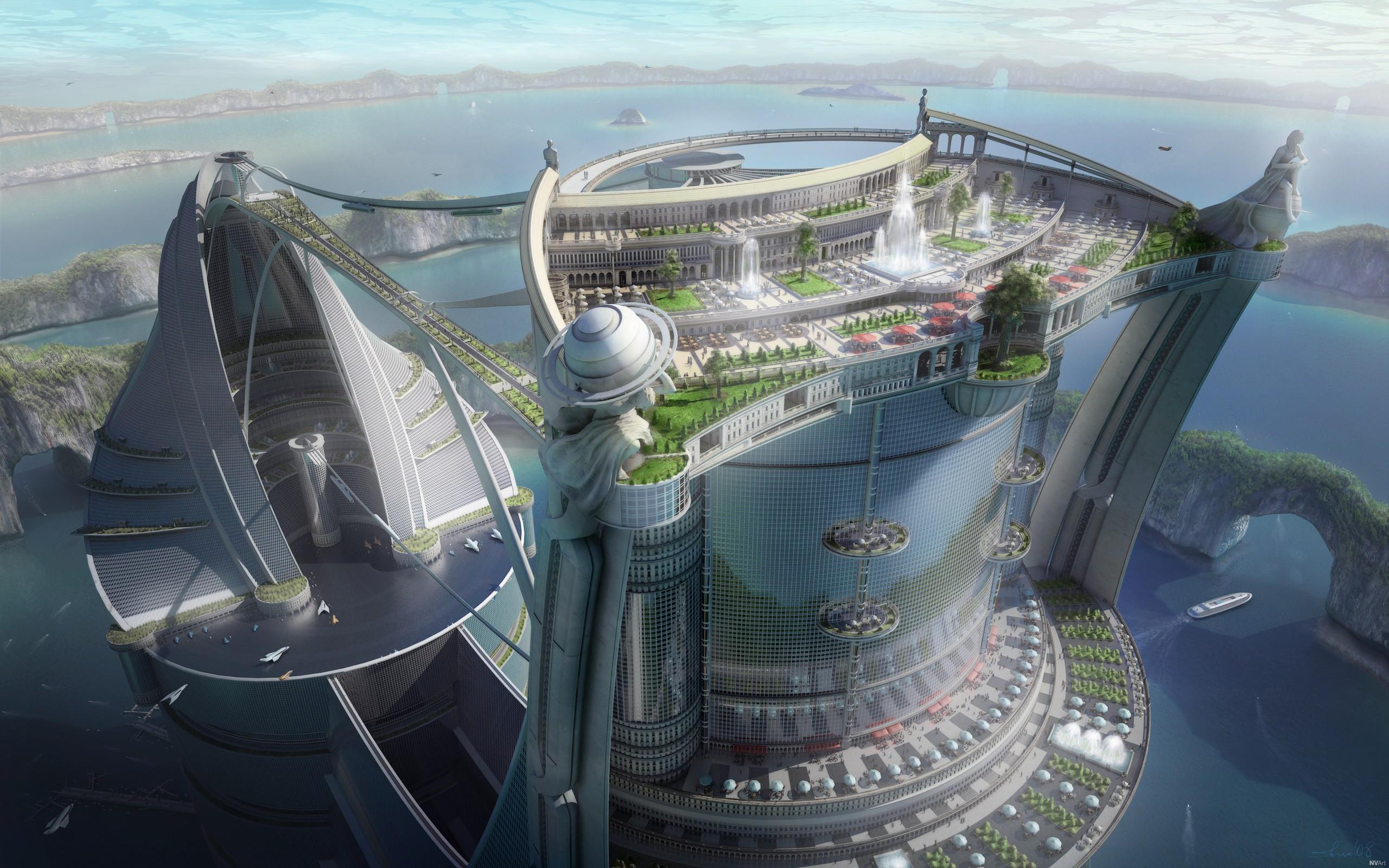 General 2560x1600 futuristic city science fiction futuristic cityscape