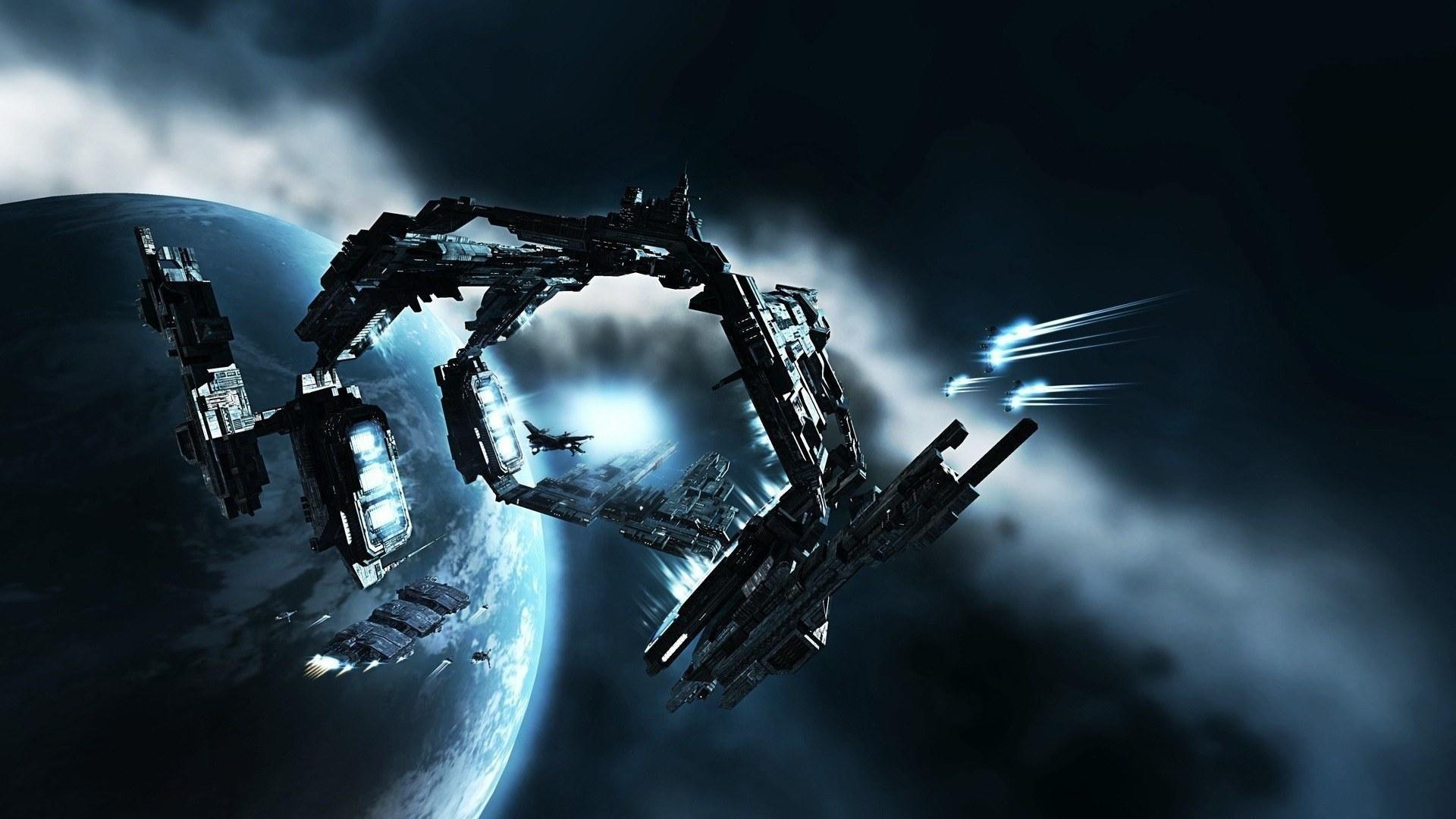 General 1920x1080 science fiction EVE Online gates space spaceship Caldari