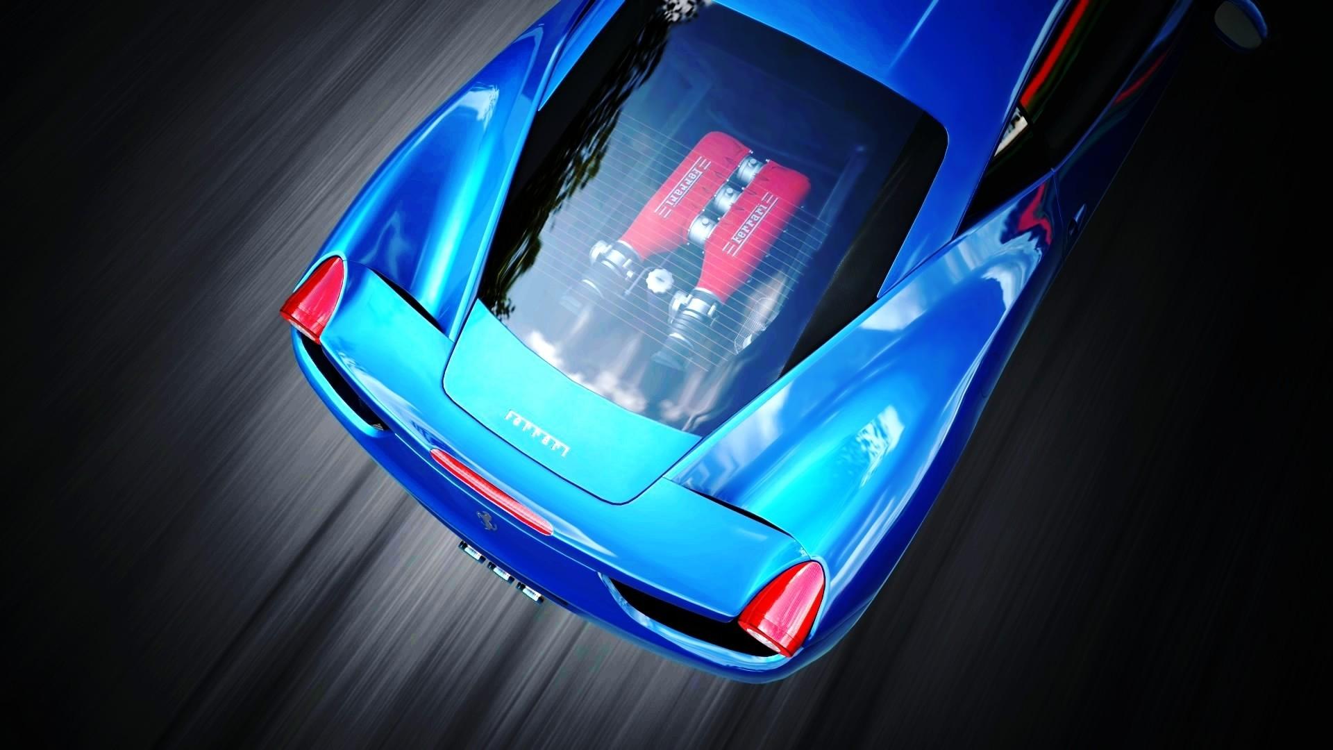 General 1920x1080 Ferrari car engines Ferrari 458 Italia blue cars vehicle