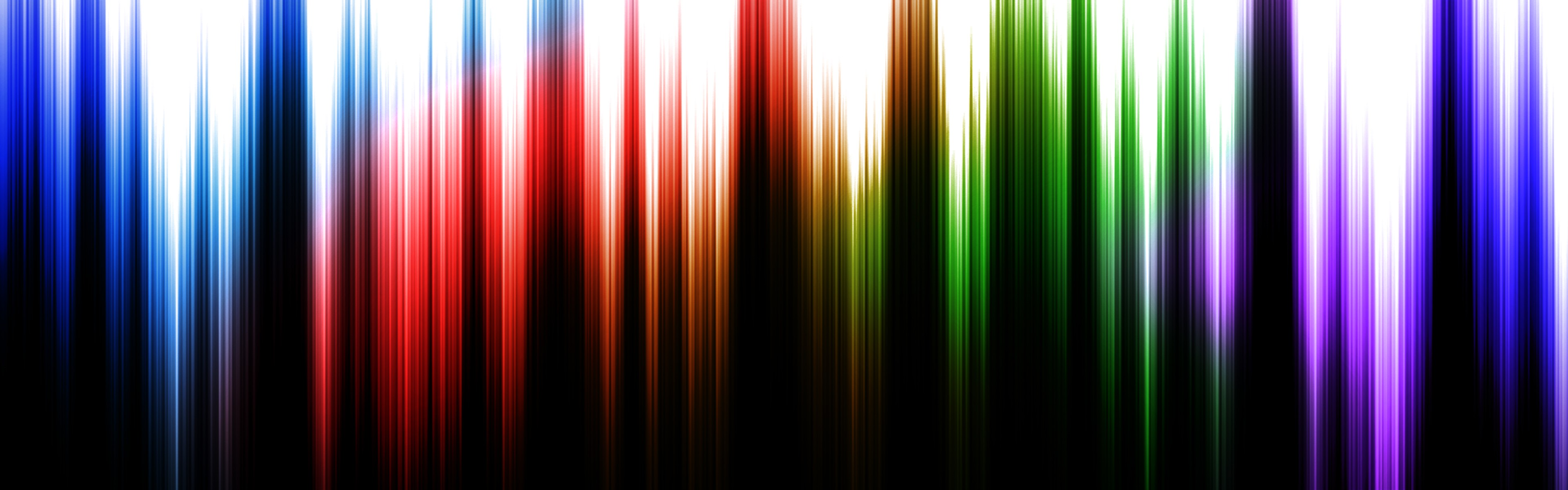 General 3840x1200 digital art colorful lines