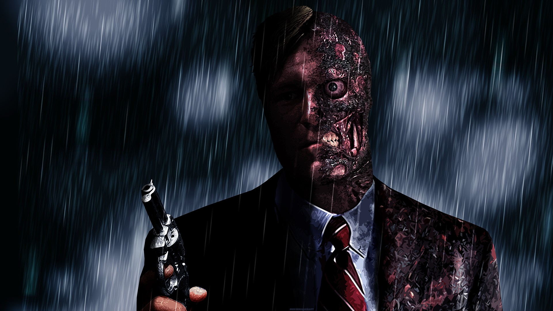 General 1920x1080 Two-Face video games Batman video game art