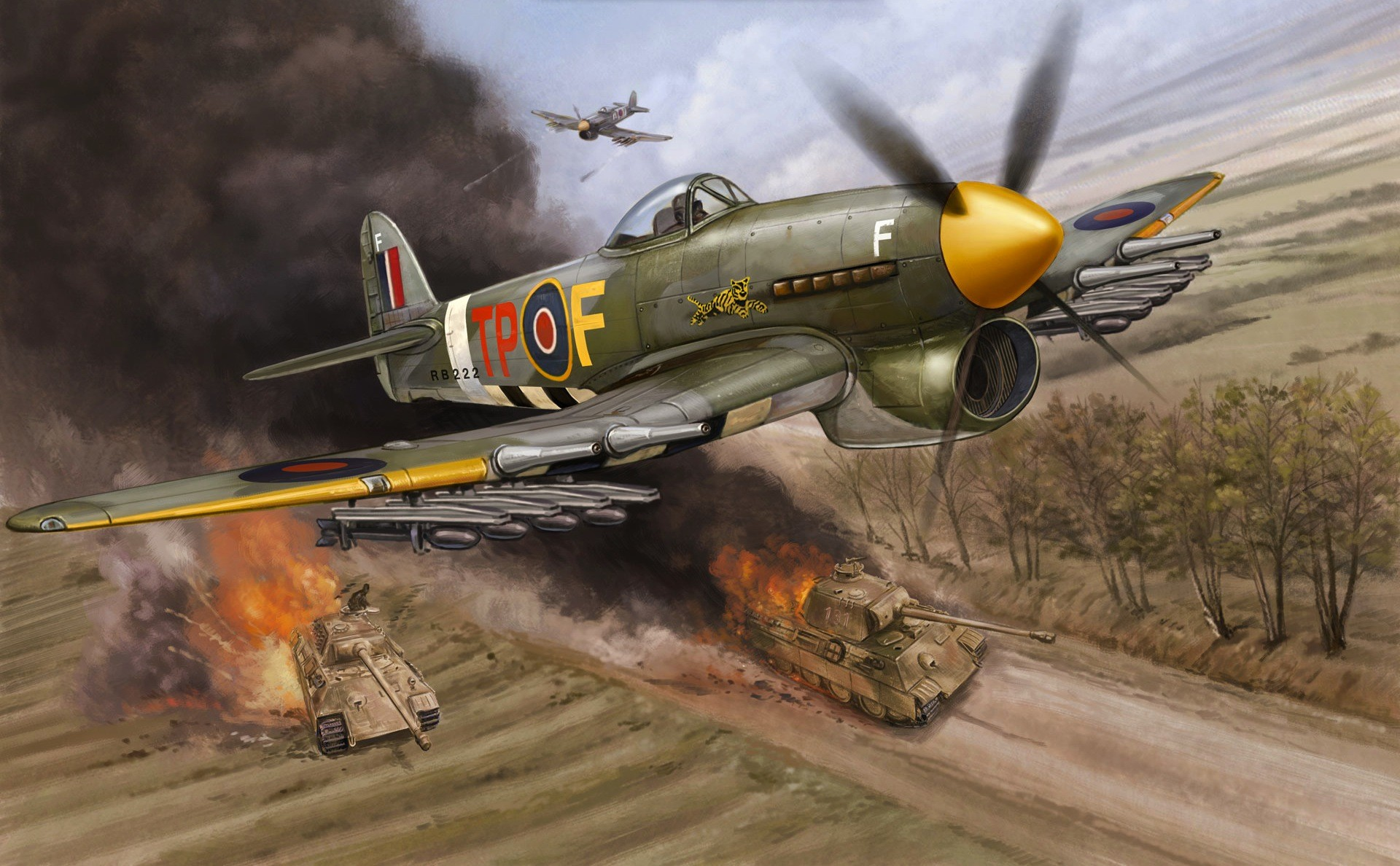 General 1920x1188 World War II airplane aircraft Hawker Typhoon military military aircraft D-Day