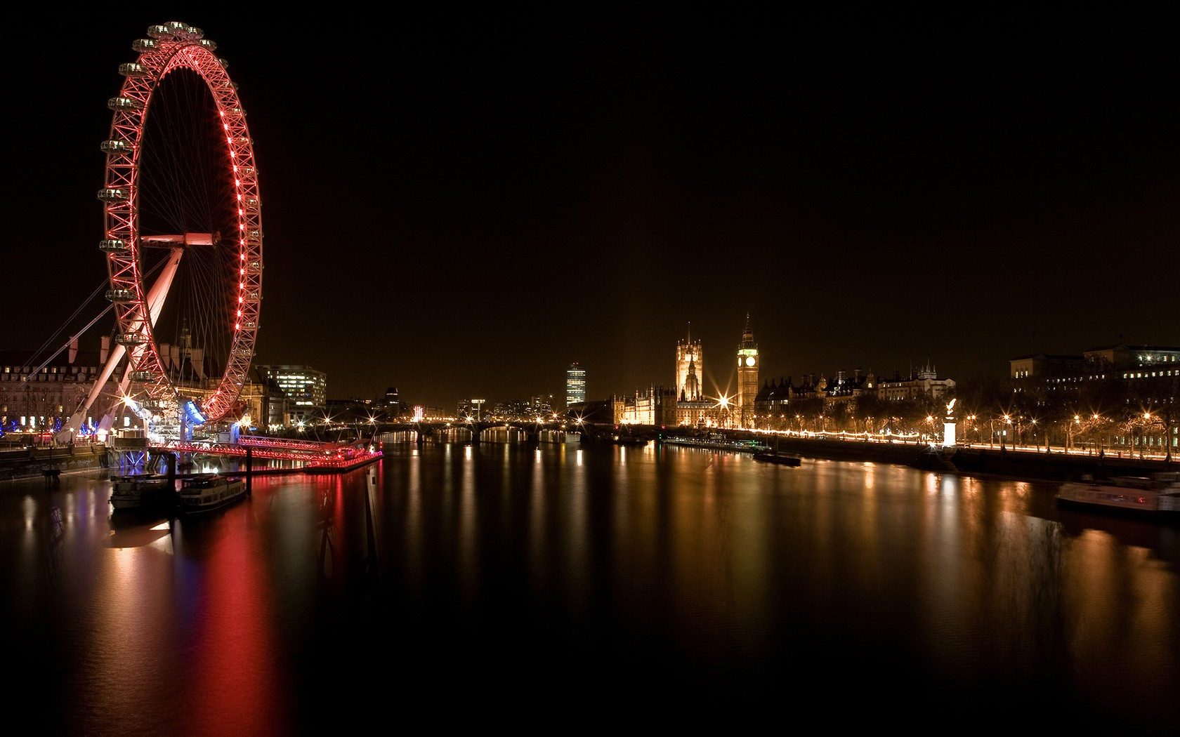 General 1680x1050 London London Eye UK ferris wheel River Thames Big Ben