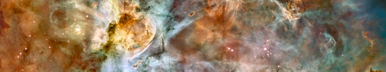 General 5760x1080 space triple screen multiple display Hubble Deep Field stars galaxy