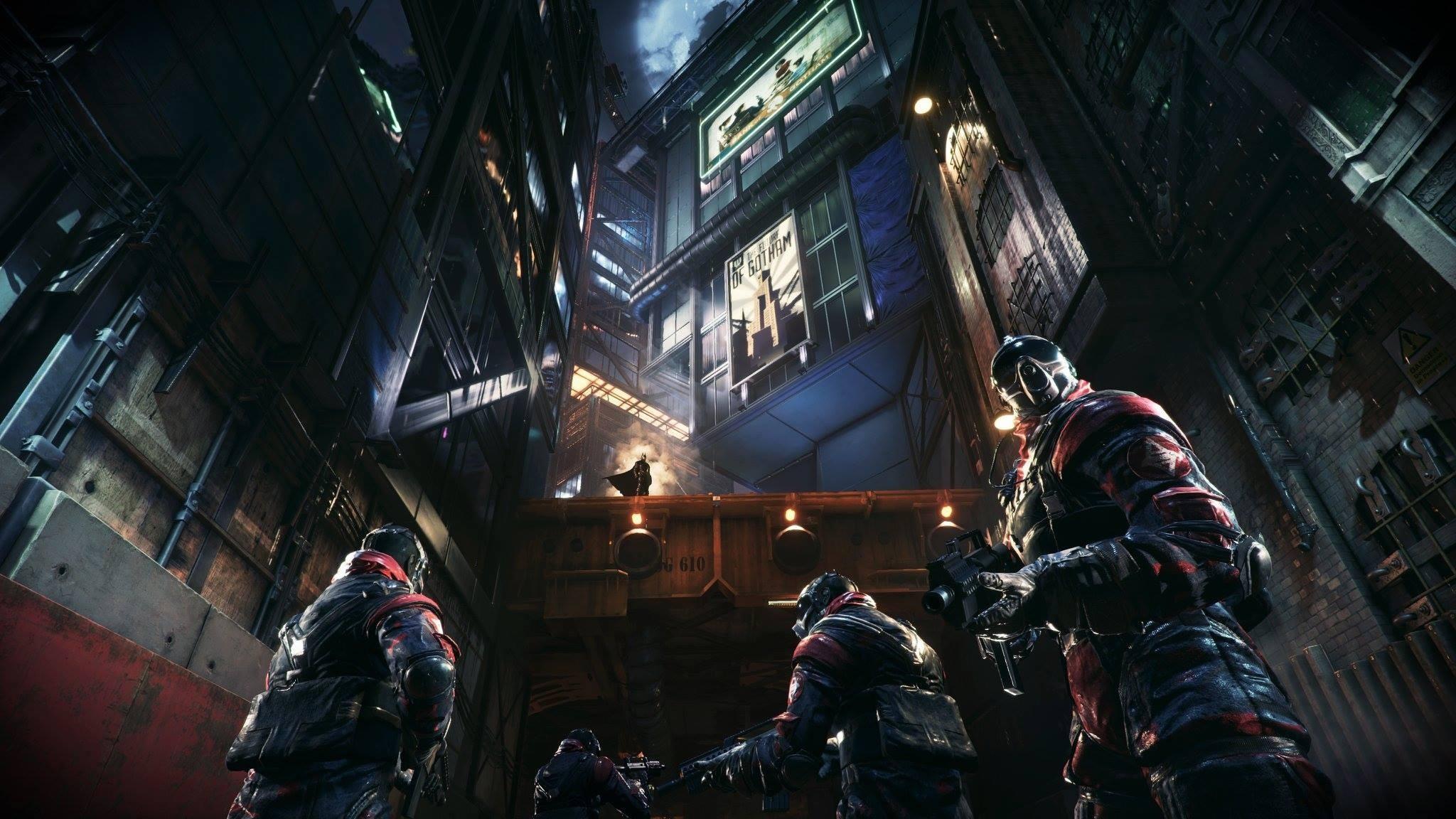General 2048x1152 Batman Gotham City Batman: Arkham Knight fire street building