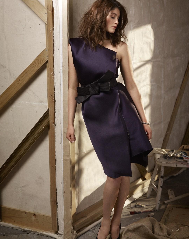 People 1080x1360 Gemma Arterton purple dresses actress women brunette