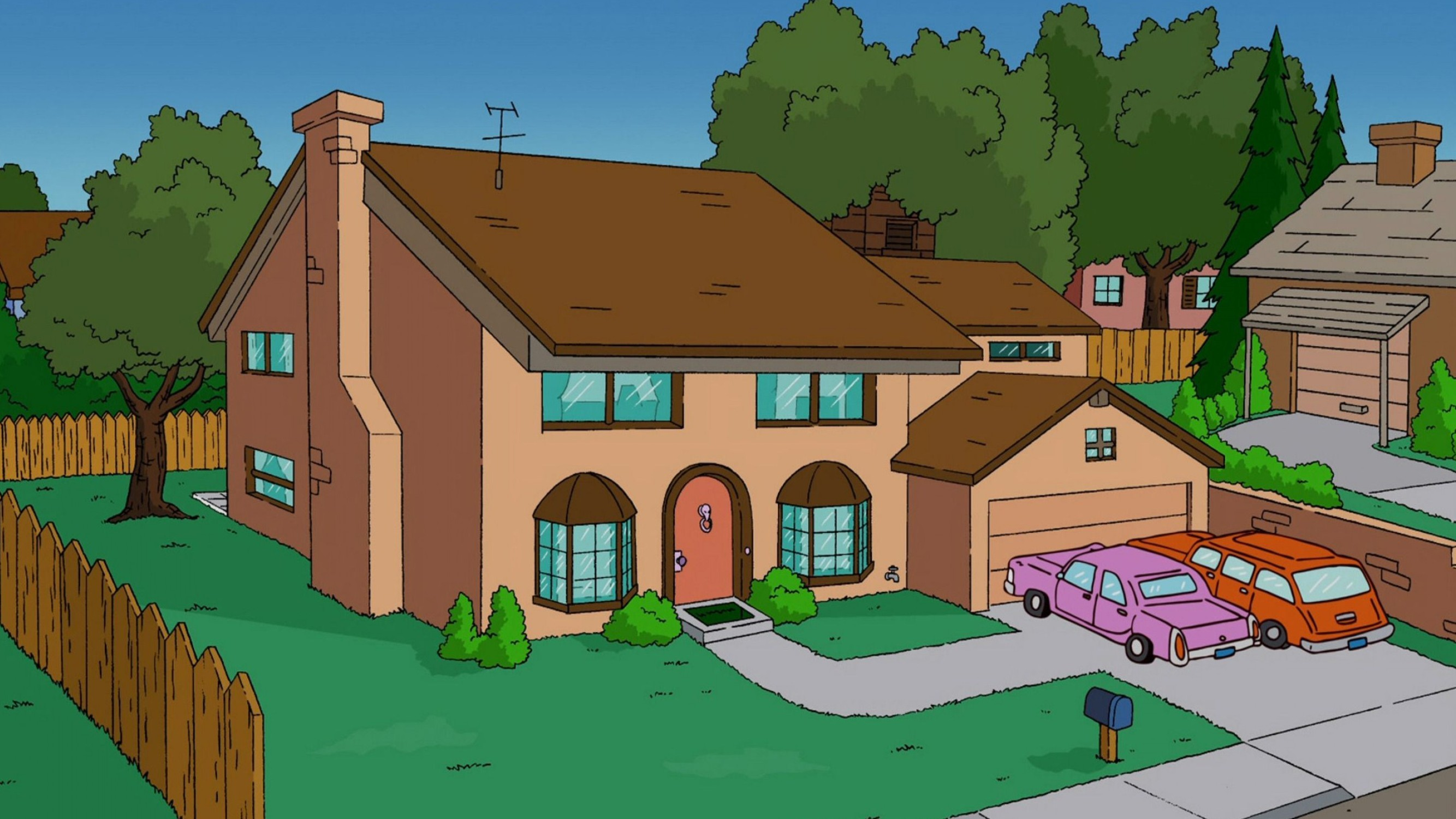 General 2667x1500 The Simpsons house TV