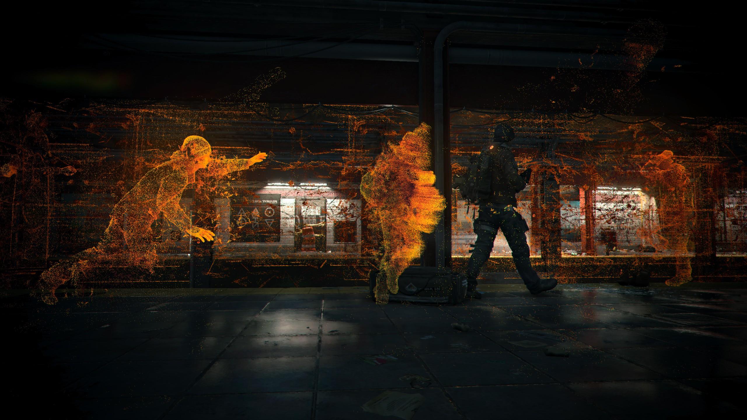 General 2560x1440 video games digital art glitch art subway