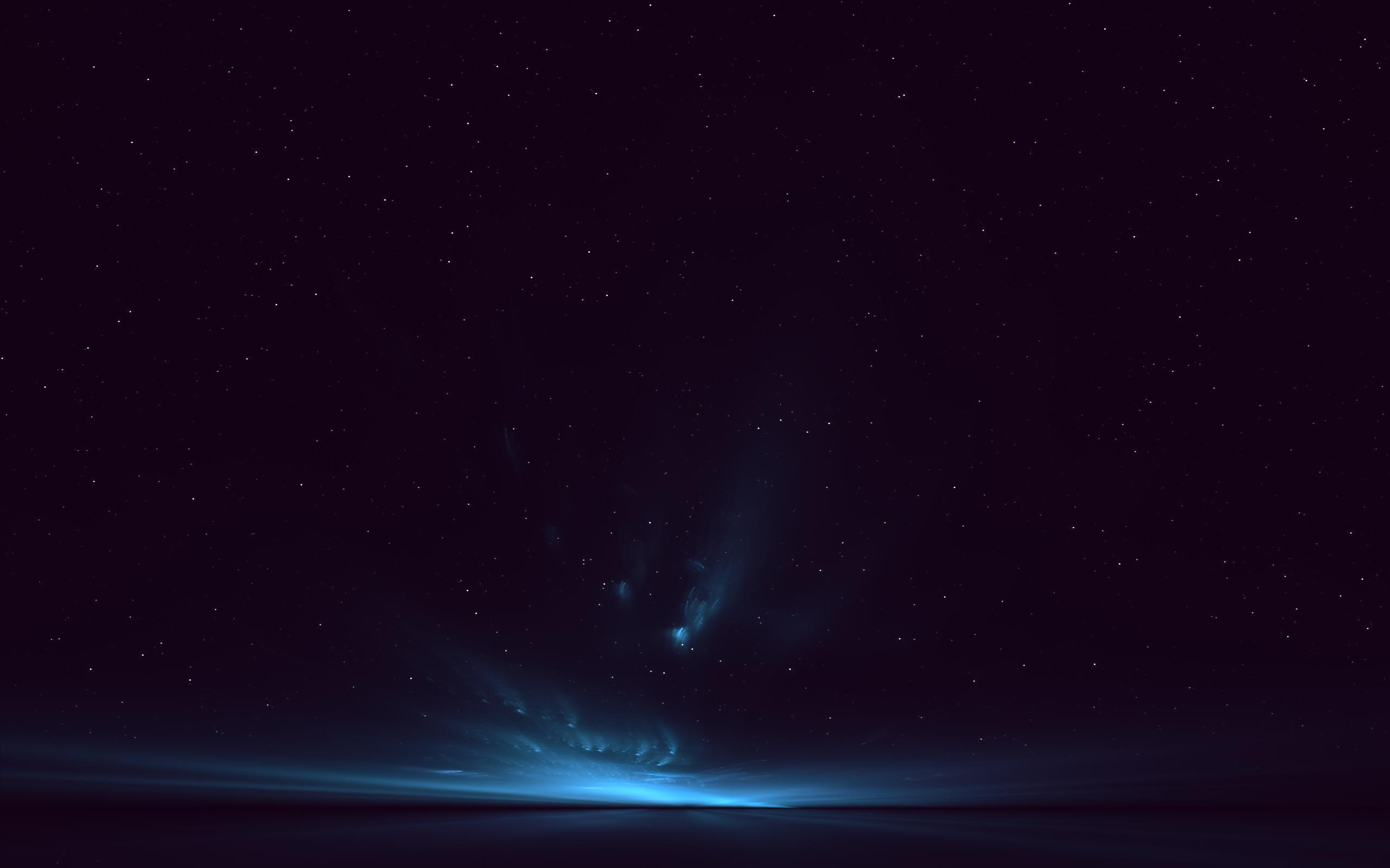 General 2560x1600 space dark blue dark blue stars aurorae black sky landscape space art digital art