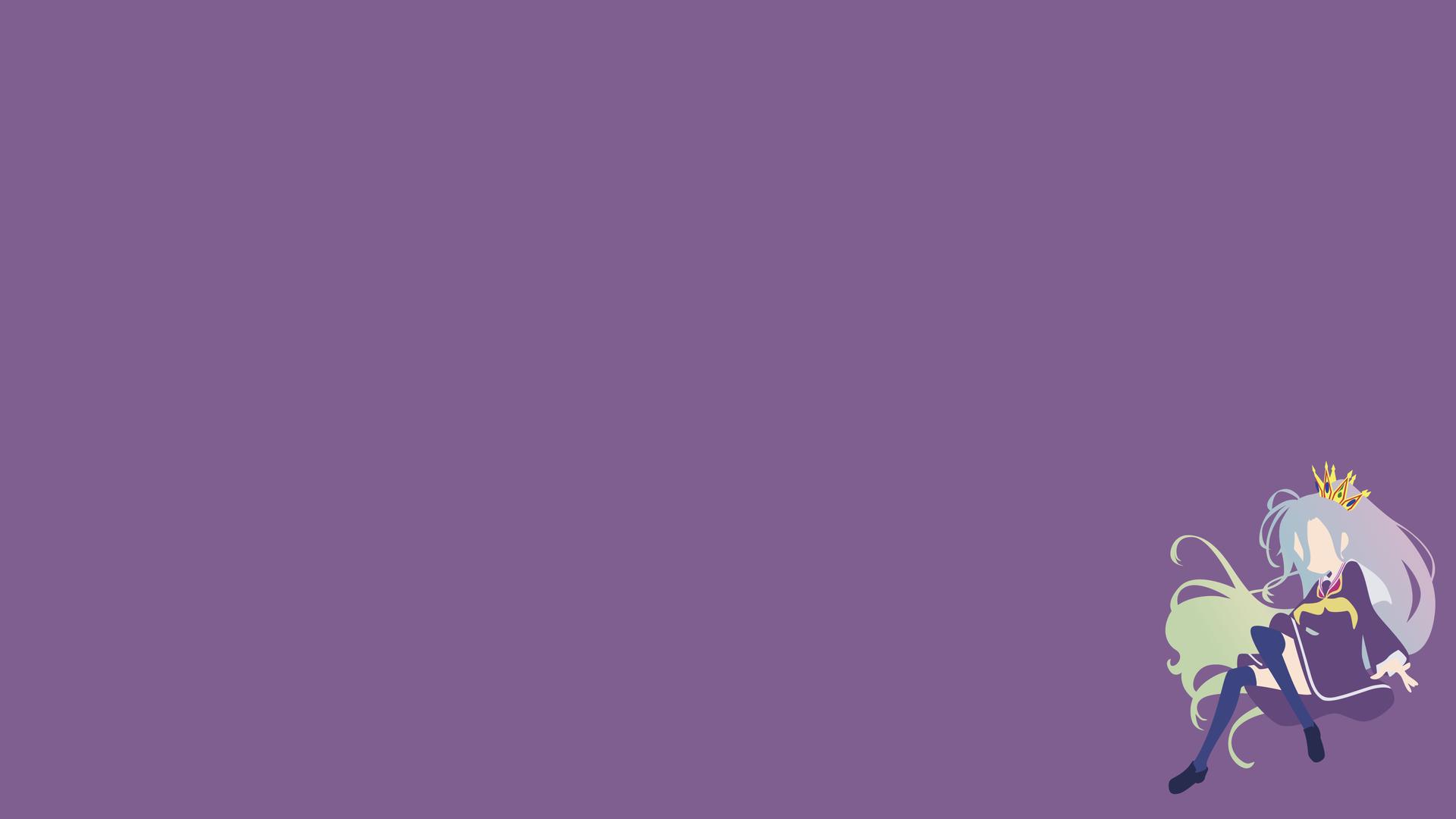 Anime 1920x1080 Shiro (No Game No Life) minimalism No Game No Life