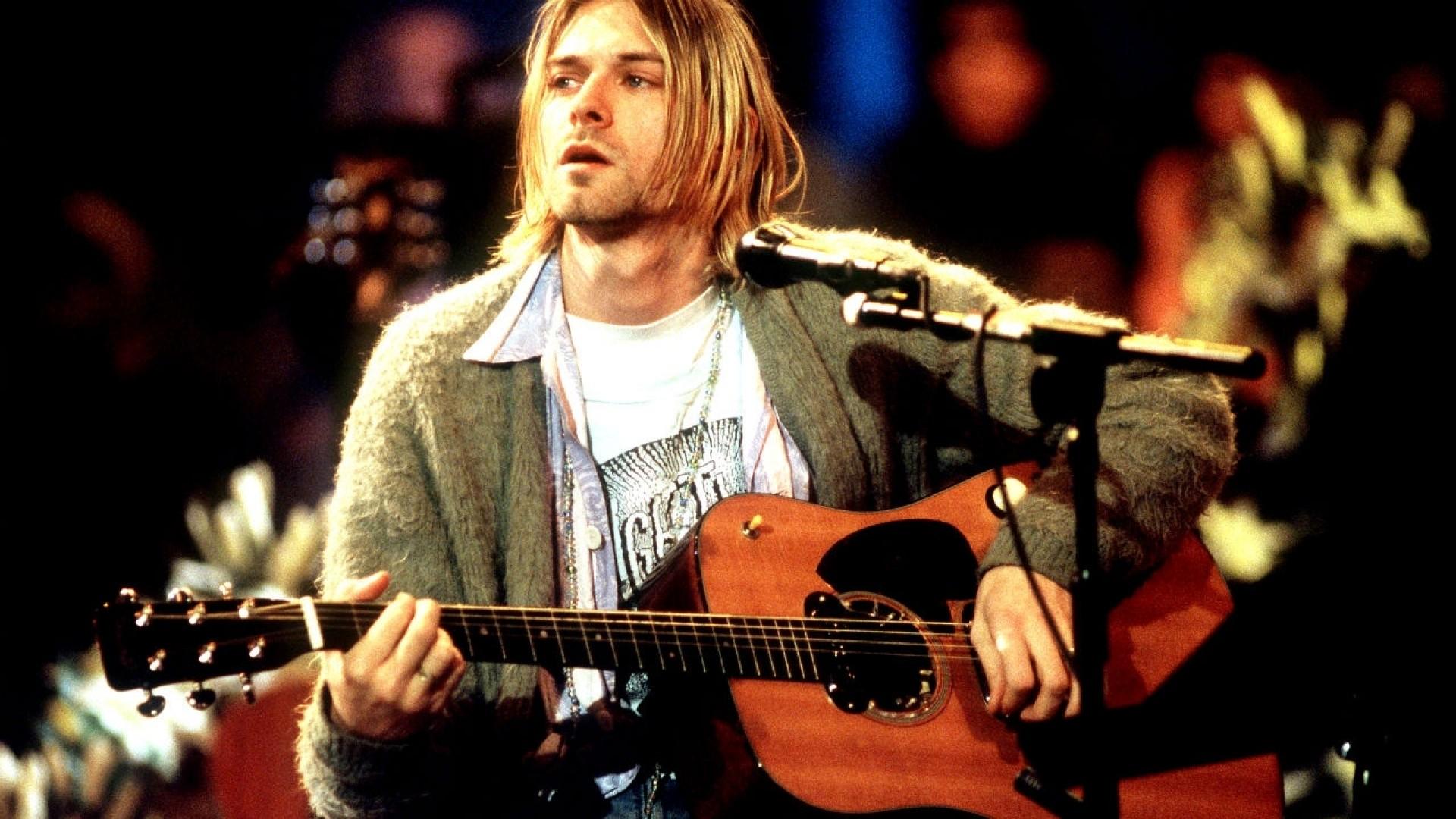 People 1920x1080 Kurt Cobain Nirvana musician guitarist men musical instrument guitar