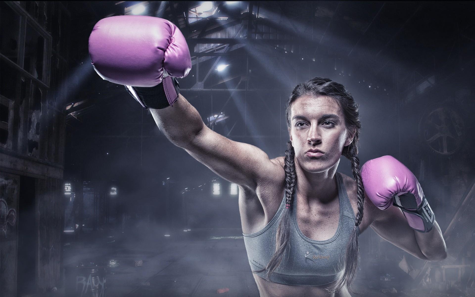General 1920x1200 boxing women sports sports bra boxing gloves HDR sun rays