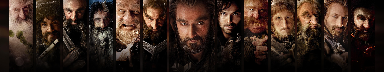 General 5760x1080 Thorin Oakenshield panels dwarfs movies collage The Hobbit fantasy men