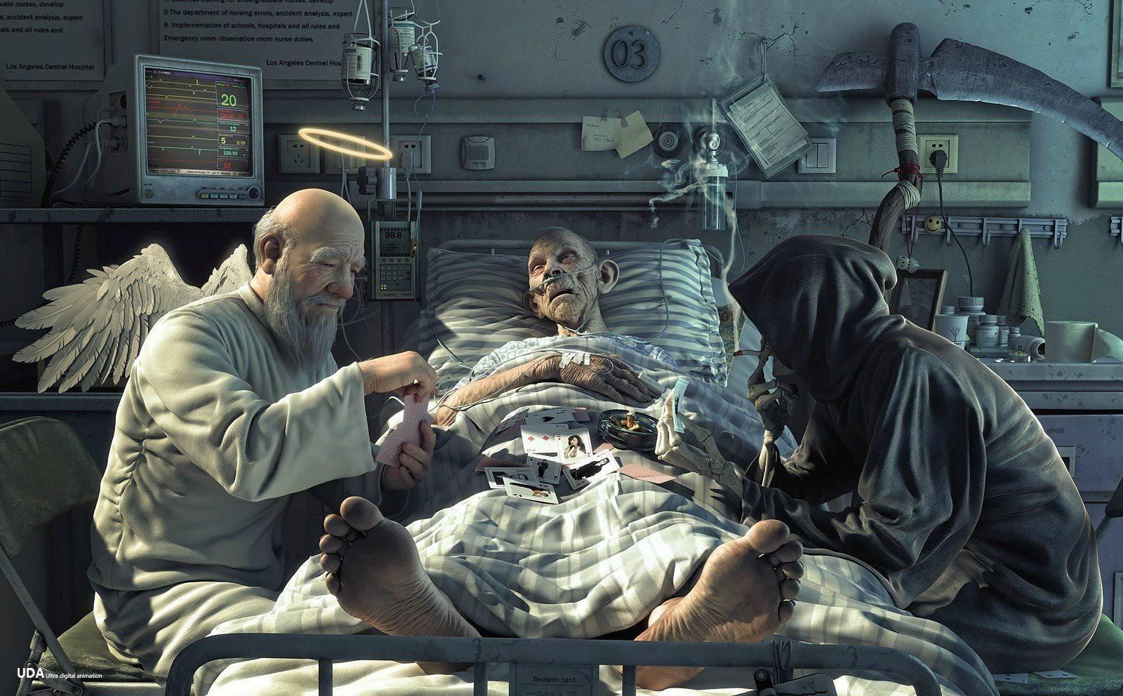 General 1600x992 hospital angel death digital art Grim Reaper cards