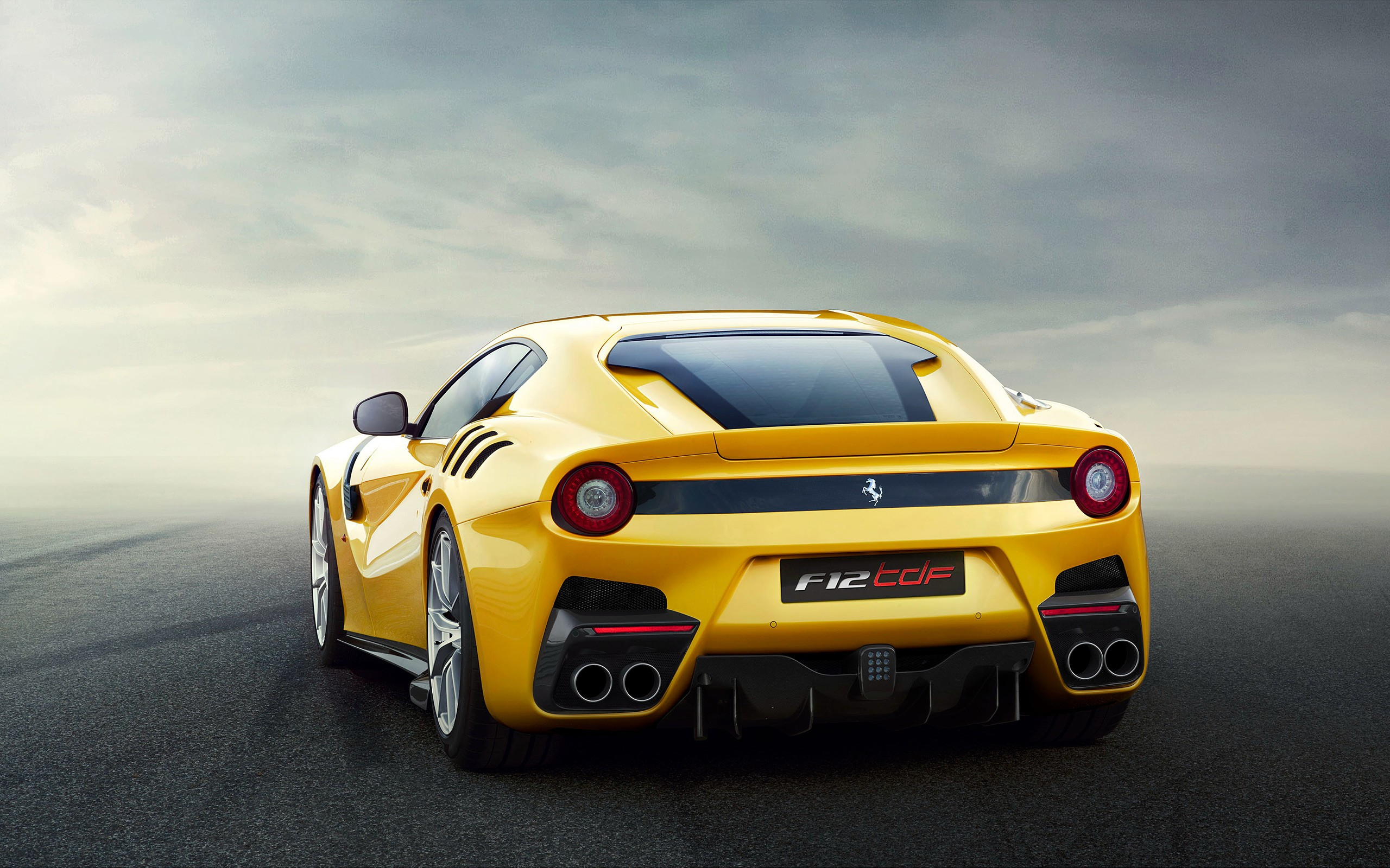 General 2560x1600 Ferrari F12 TDF car Ferrari vehicle yellow cars